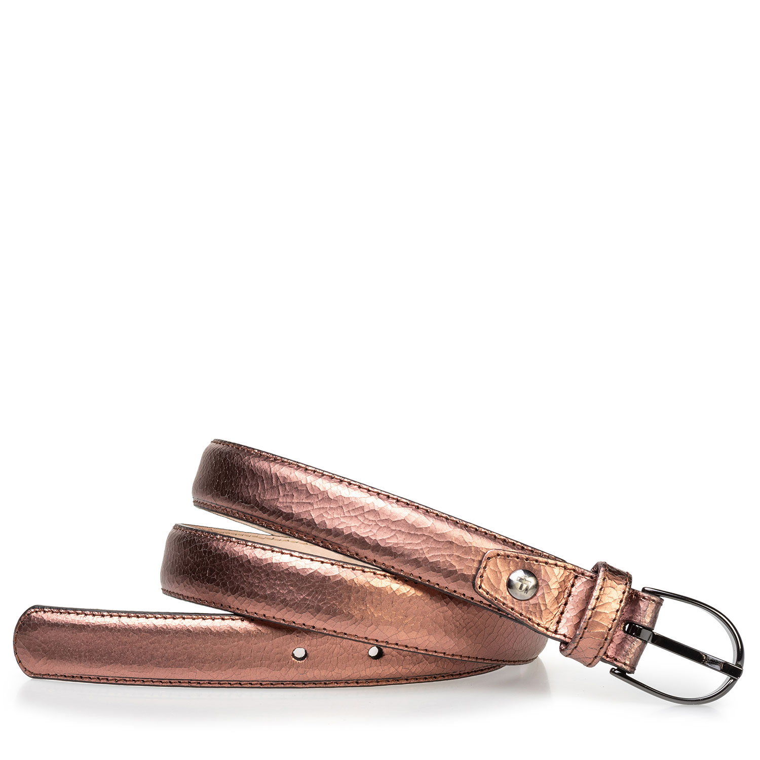 75813/76 - Women's belt copper leather craquelé