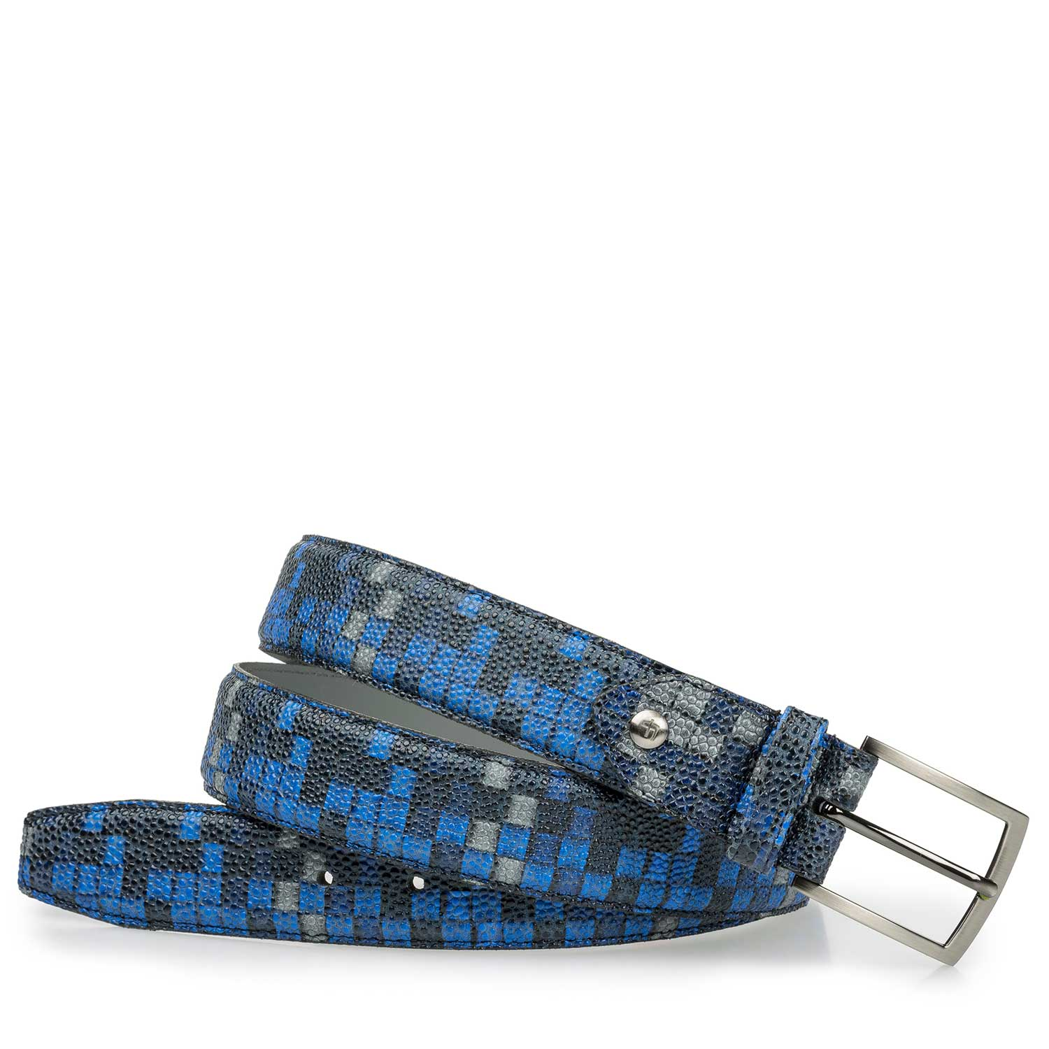 75190/16 - Blue belt with graphic print