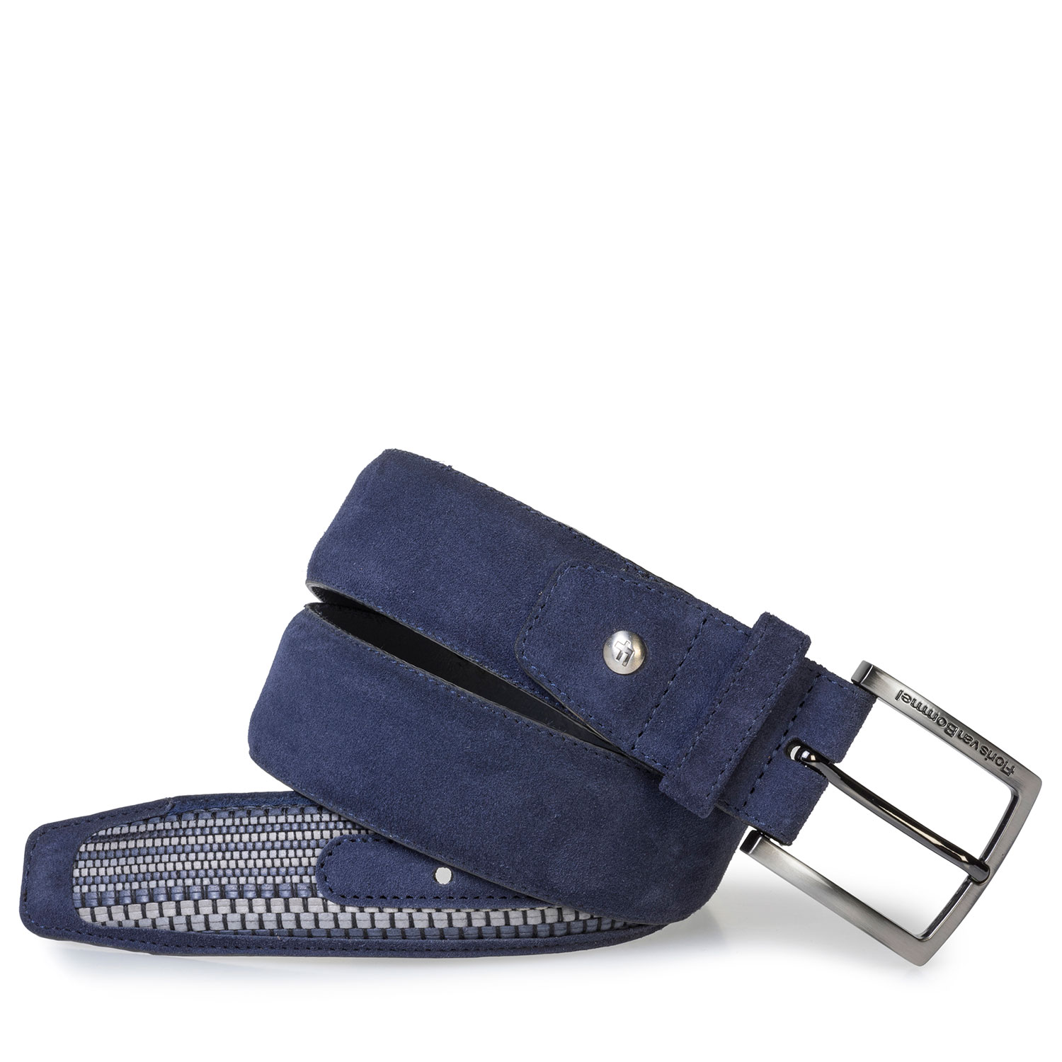 75159/33 - Dark blue belt with braided details