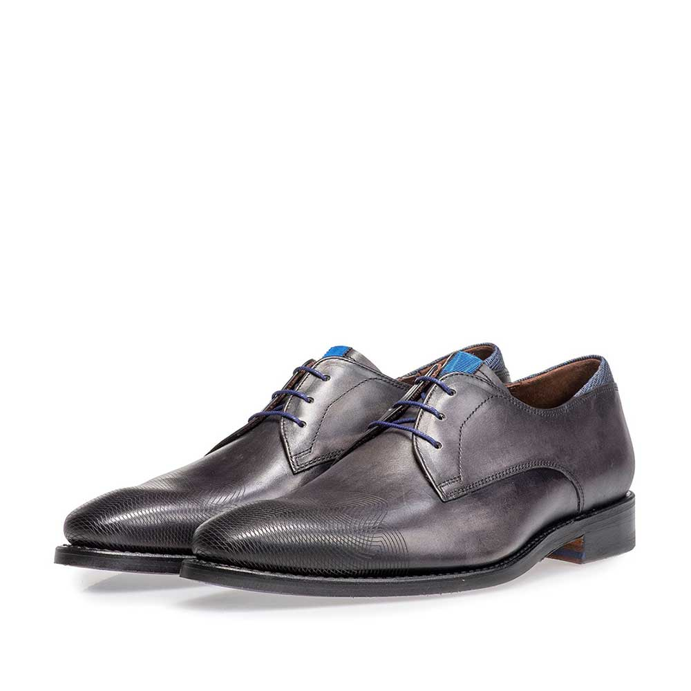18184/03 - Grey calf leather lace shoe