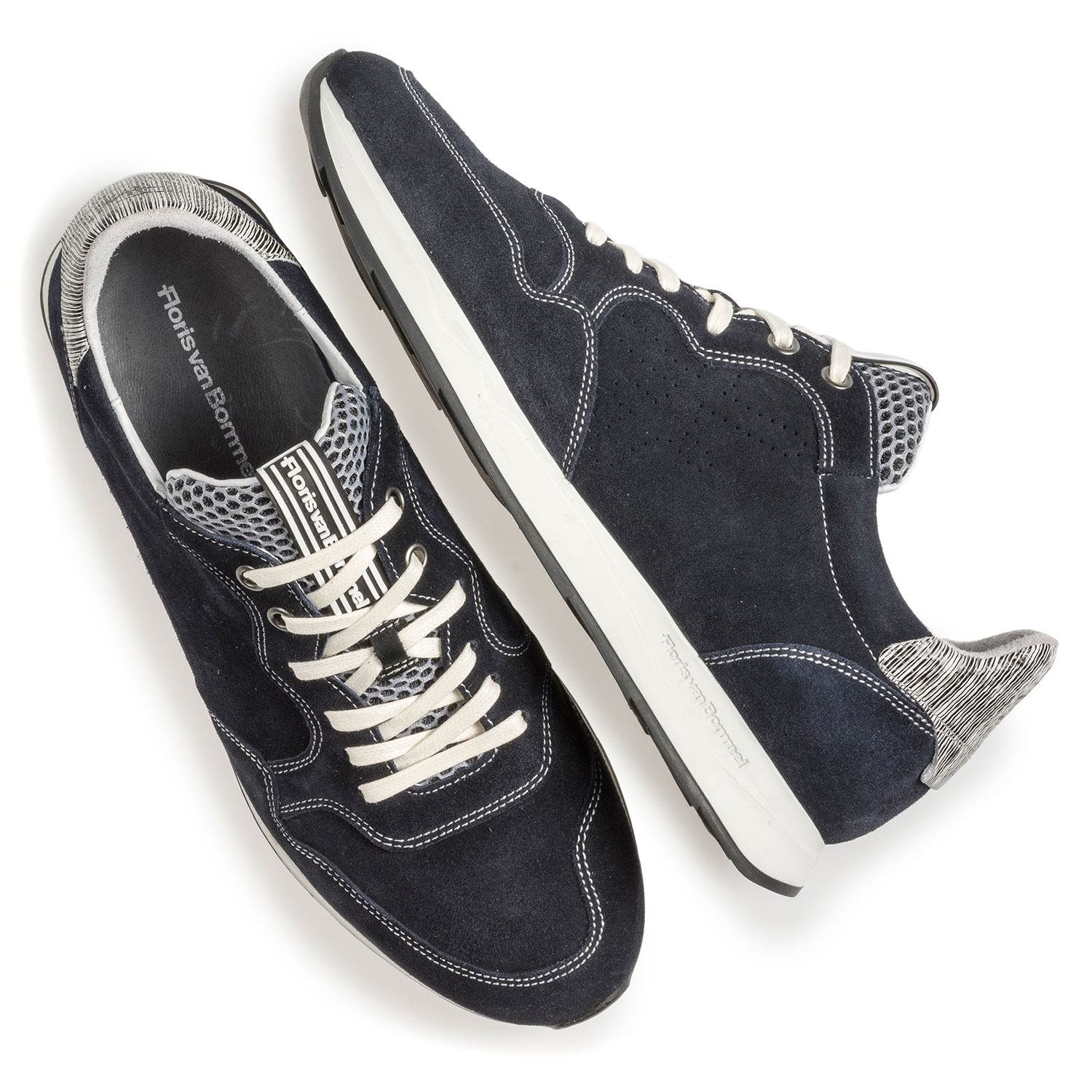 16446/01 - Blue suede leather sneaker