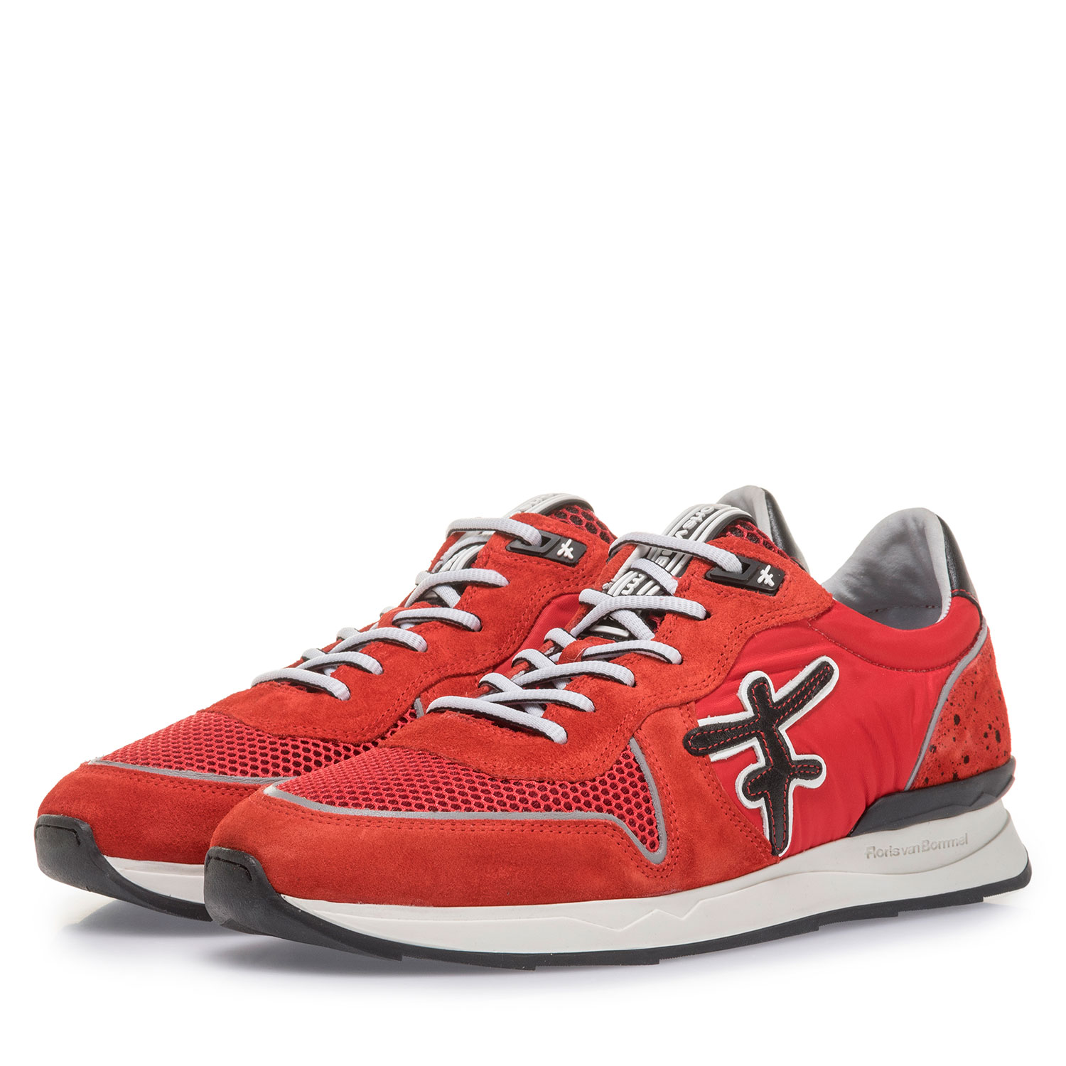 16346/10 - Red suede leather sneaker