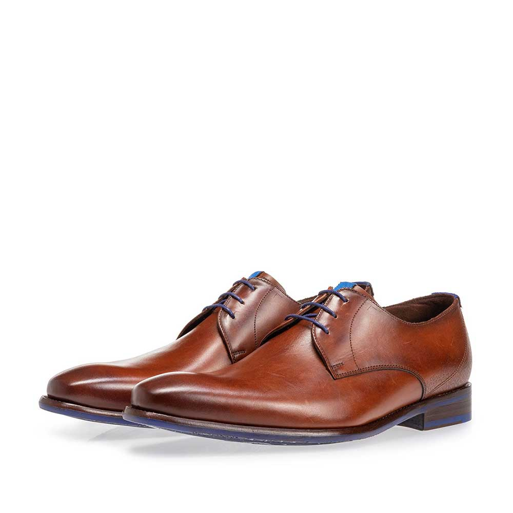 18130/00 - Lace shoe calf leather dark cognac