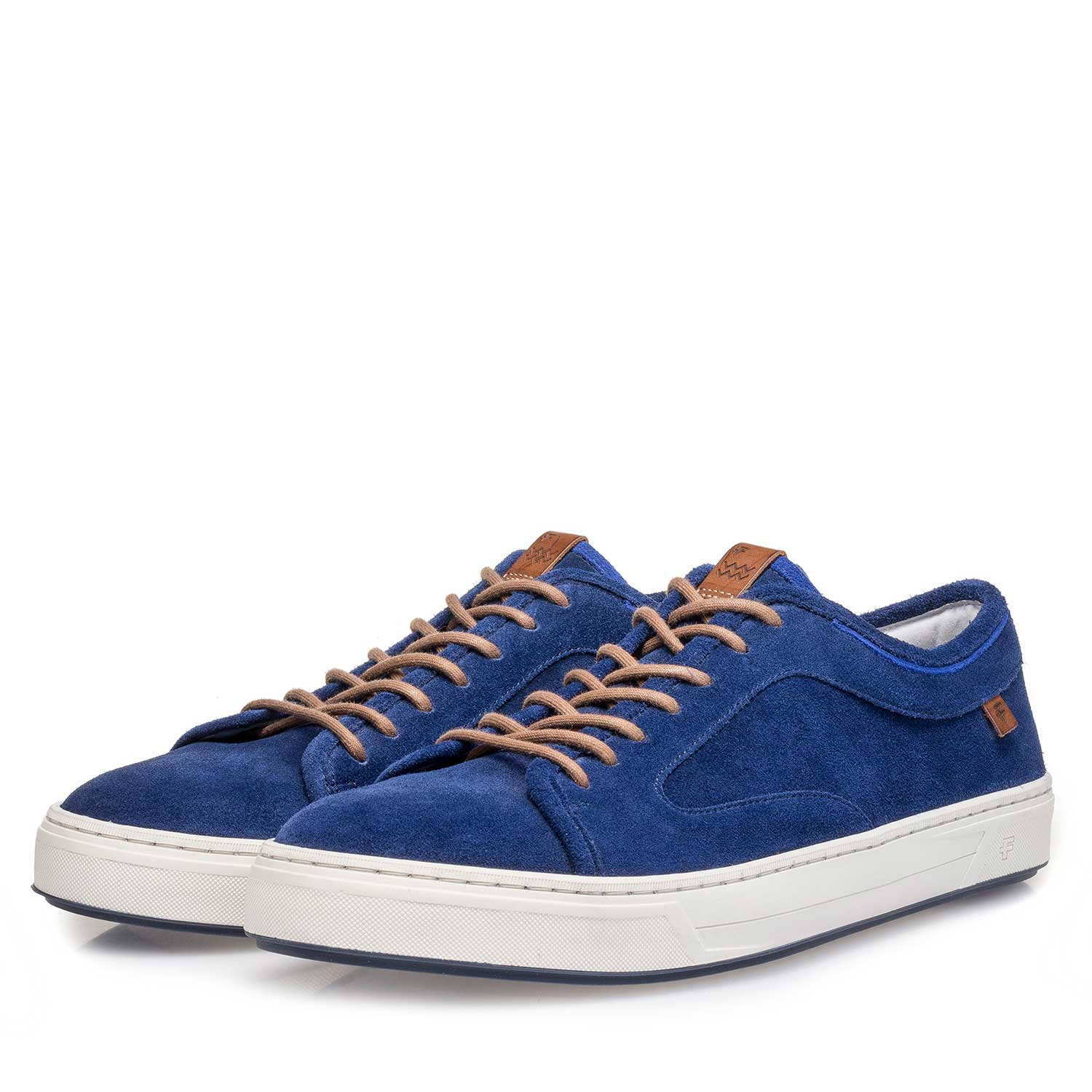 13466/02 - Blue washed suede leather sneaker