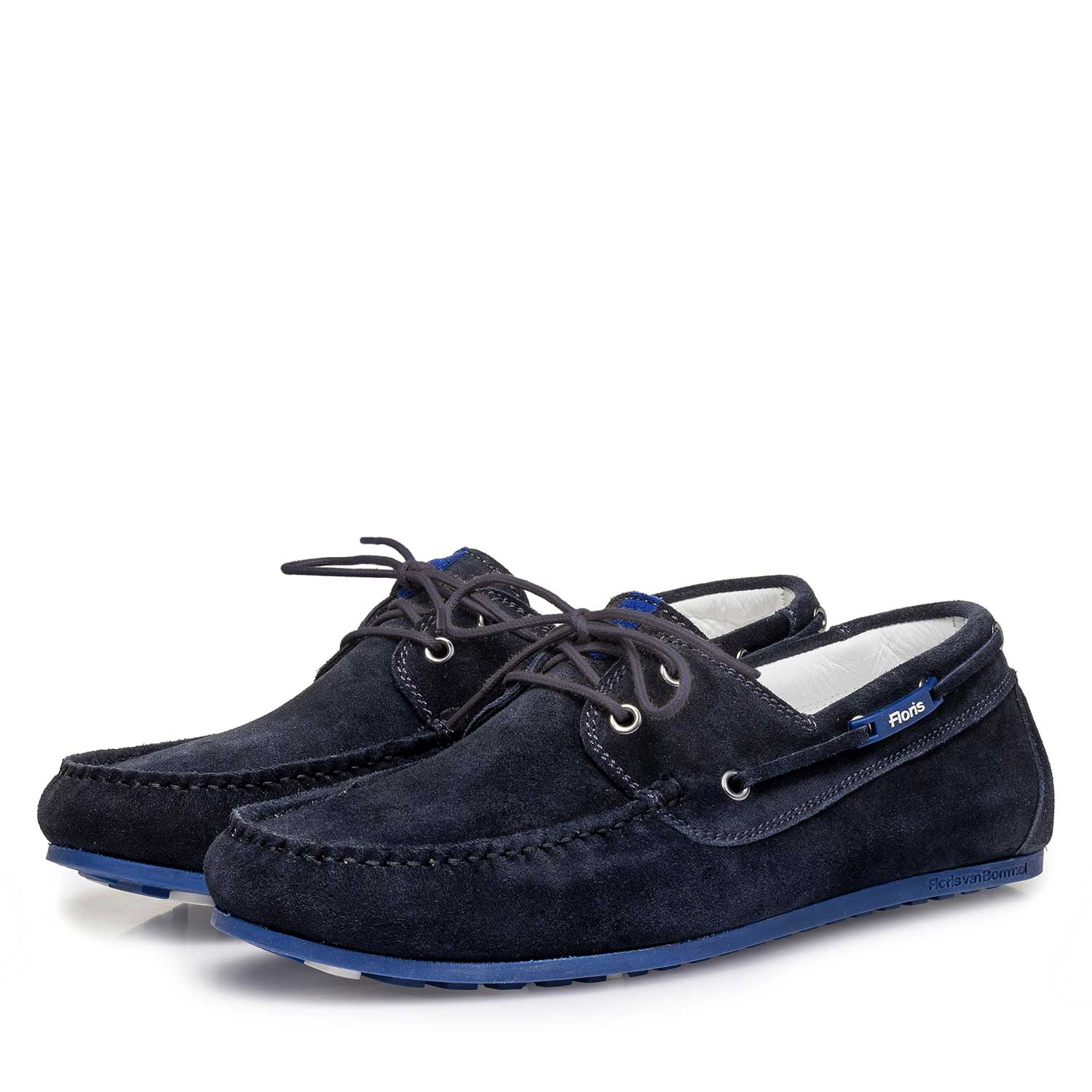 15035/08 - Blue slightly buffed suede leather sailing shoe