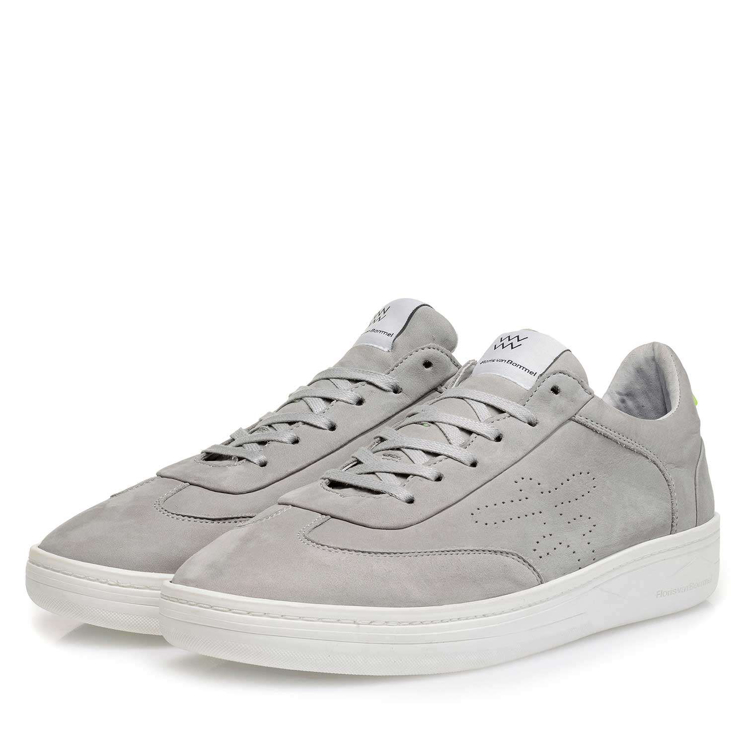 16255/03 - Light grey nubuck leather sneaker