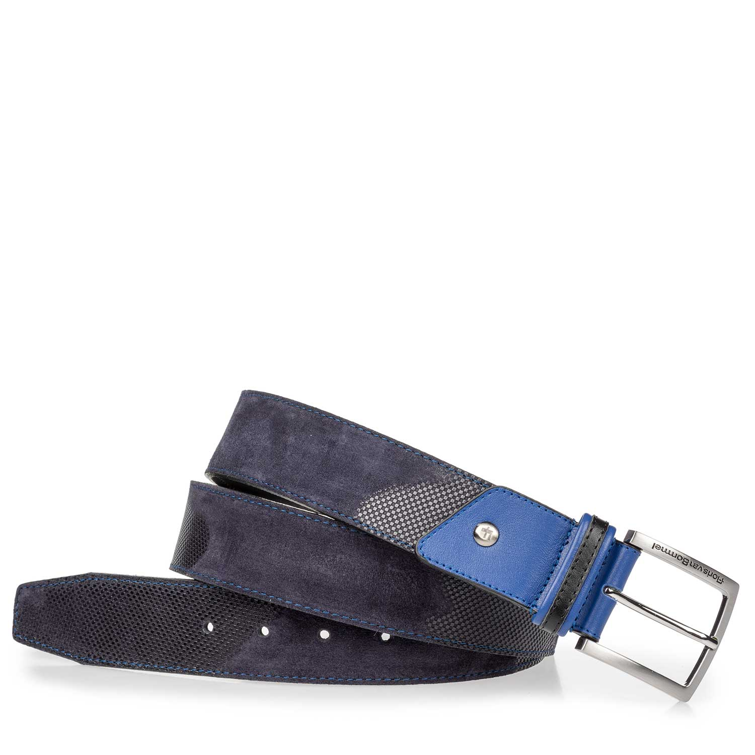 75193/03 - Blue suede leather belt