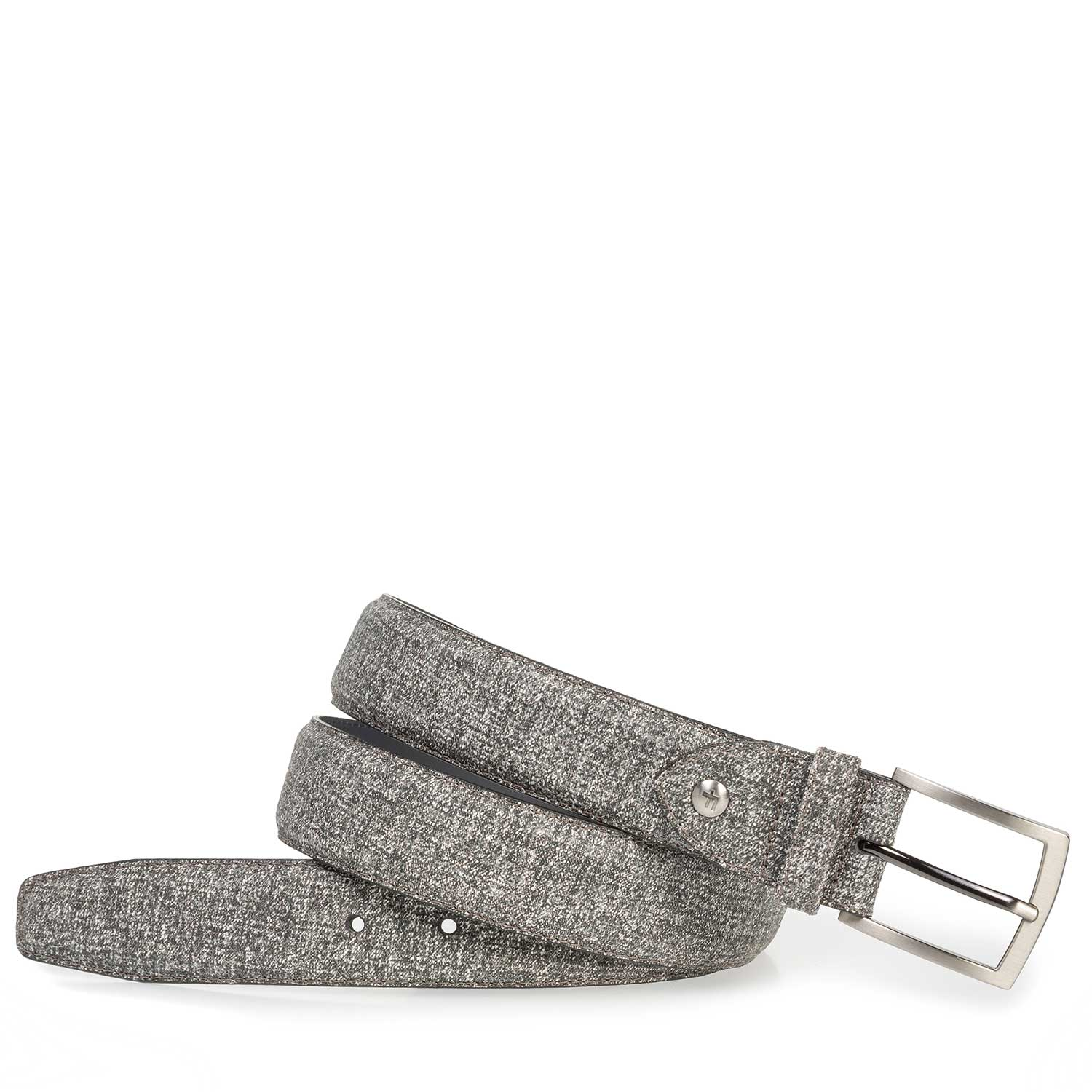 75201/52 - Grey suede leather belt with print