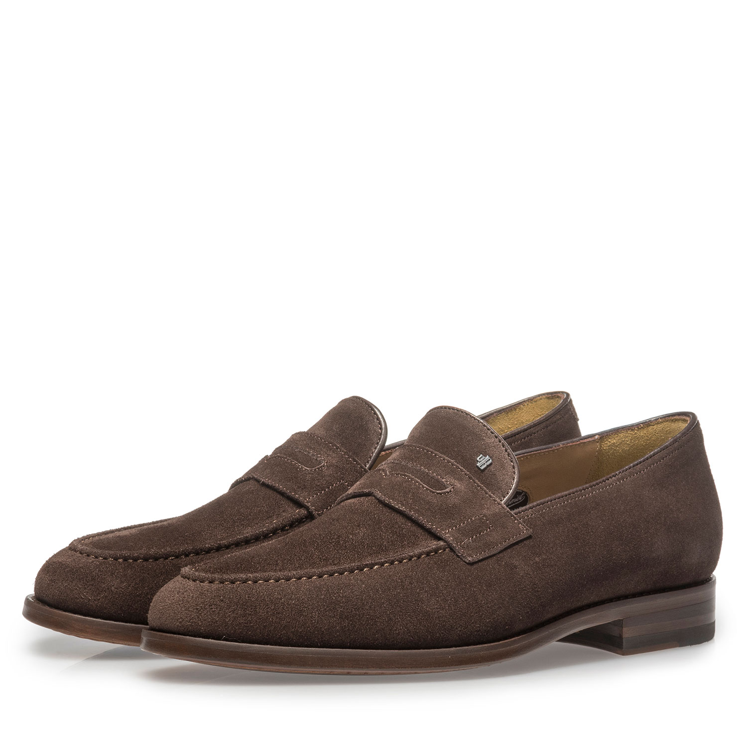 11132/00 - Dark brown suede leather loafer