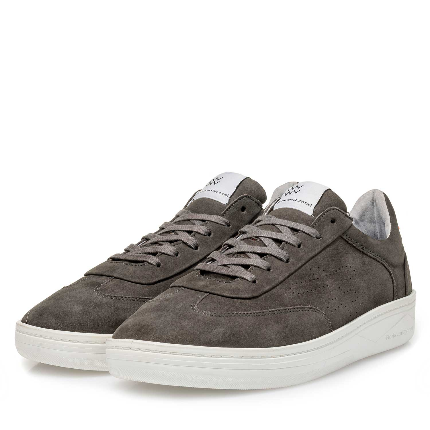 16255/02 - Dark grey nubuck leather sneaker