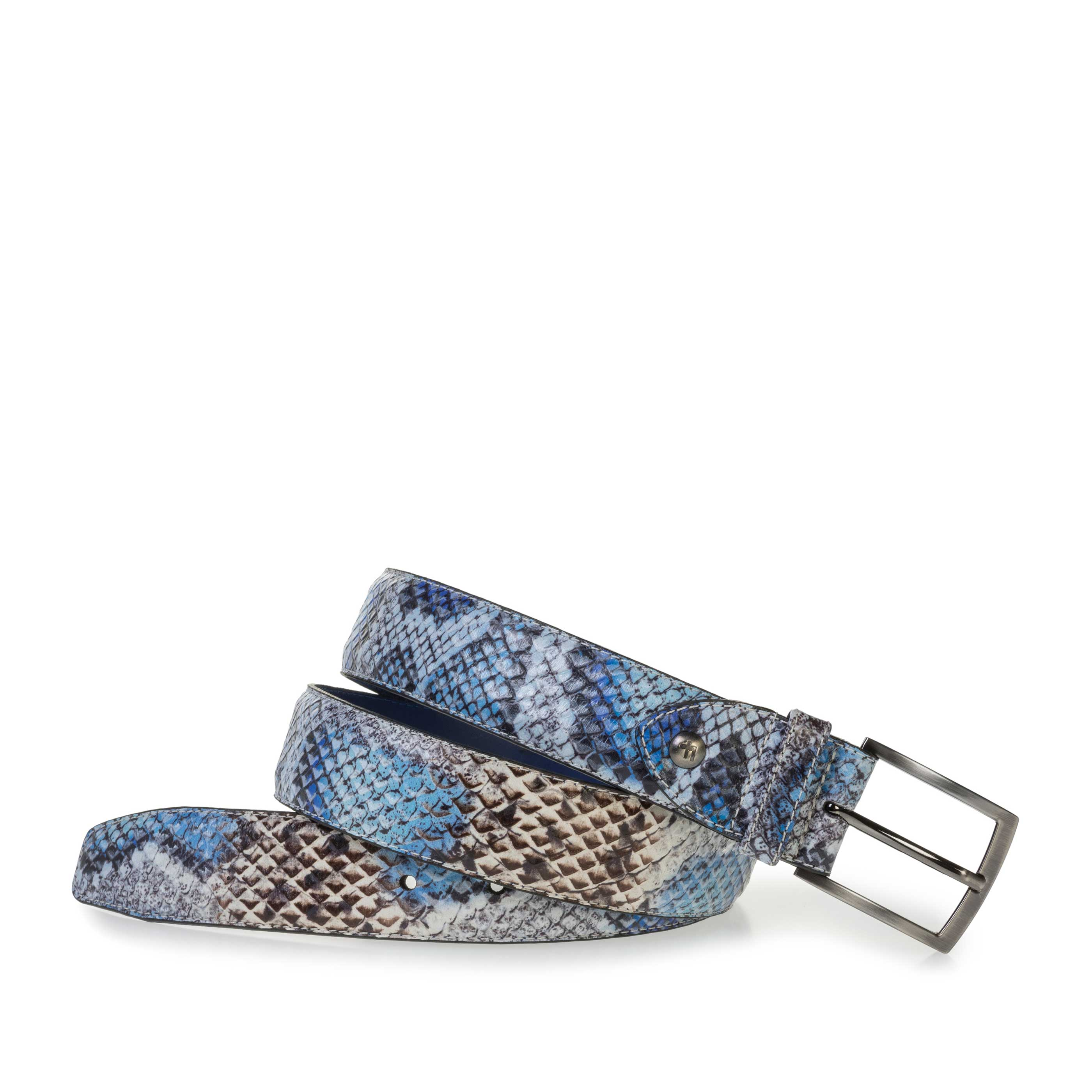 75201/65 - Premium belt with blue snake print