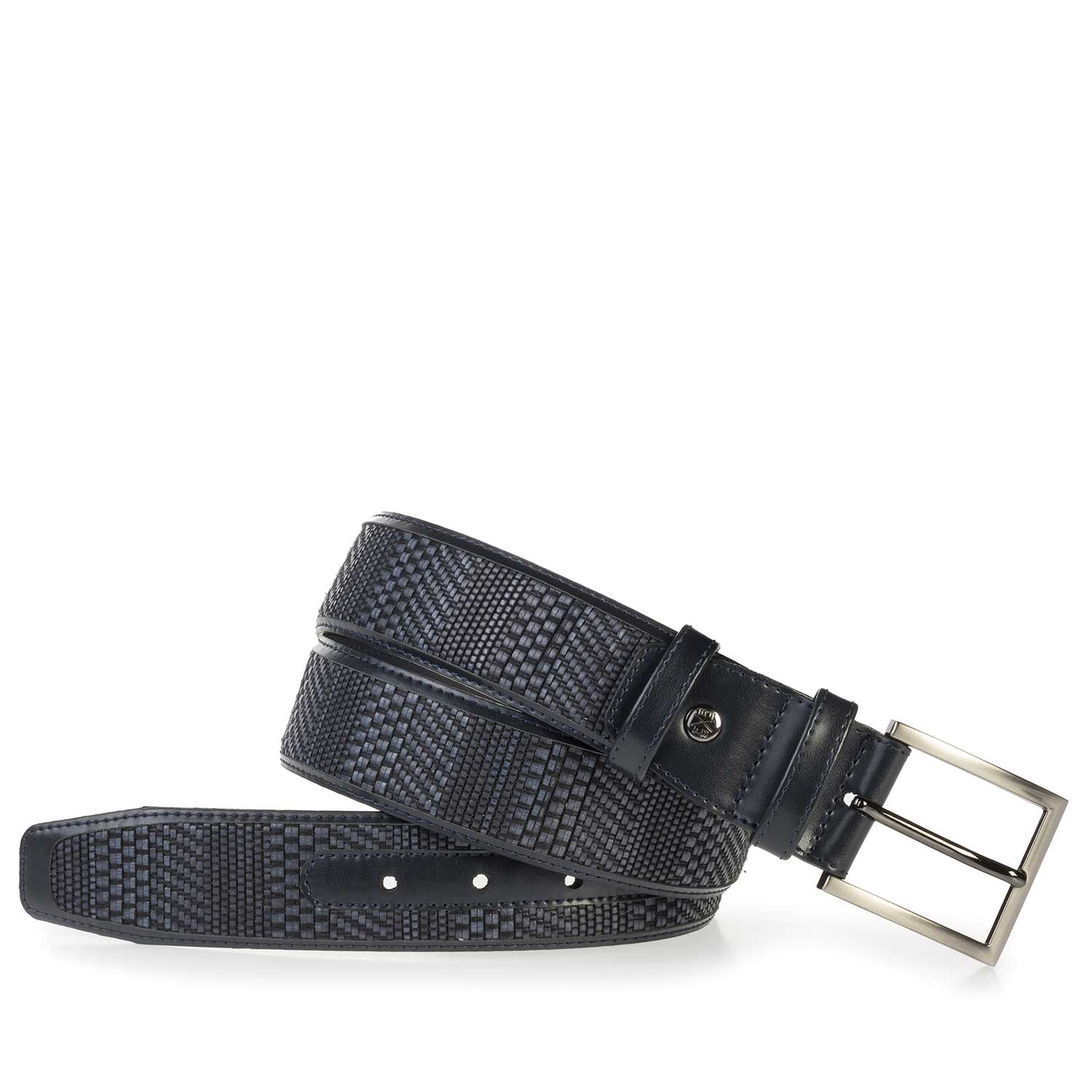 75159/04 - Blue belt made of braided leather