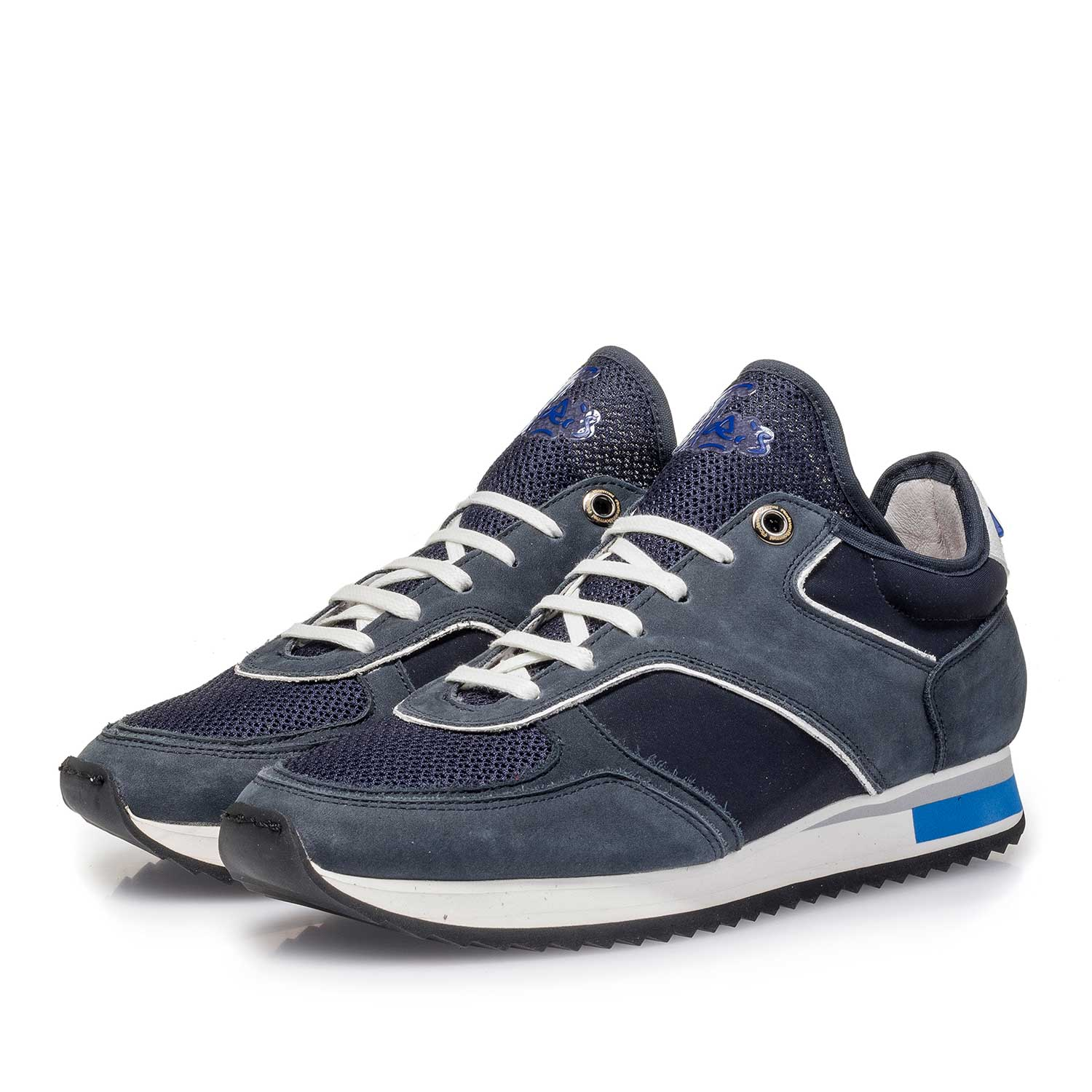 85261/05 - Dark blue nubuck leather sneaker