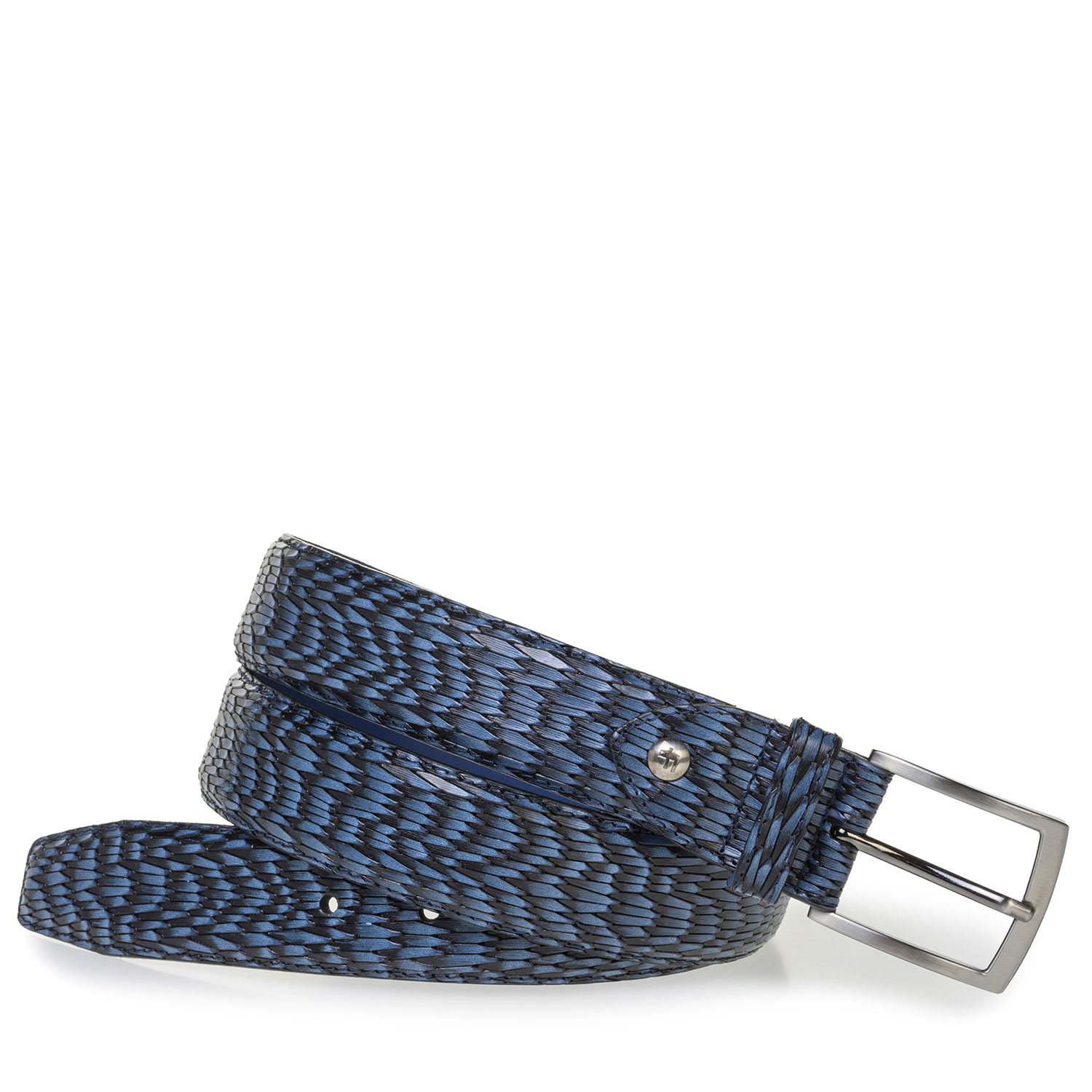 75200/72 - Blue leather belt with print
