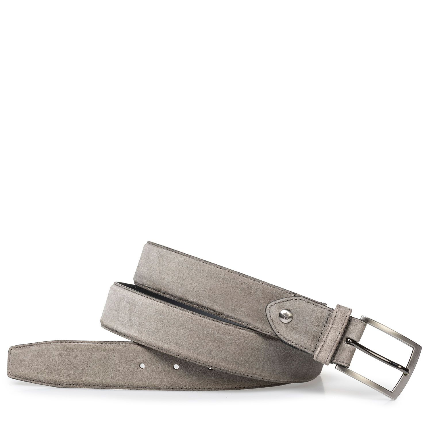 75200/44 - Lightly buffed, taupe-colored suede leather belt