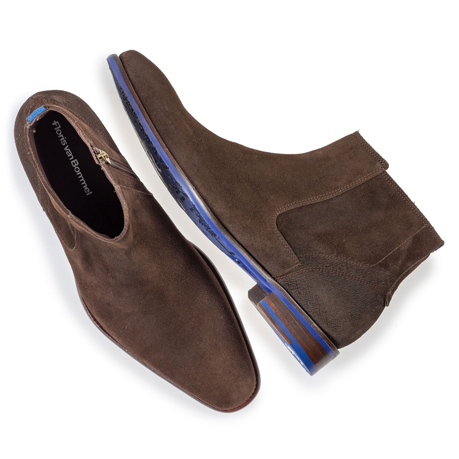 20131/03 - Chelsea boot brown suede leather