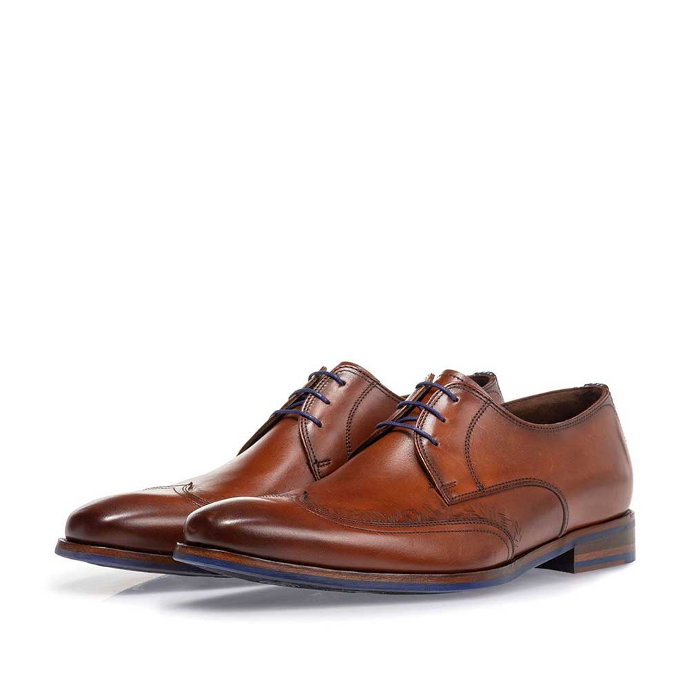 18212/00 - Lace shoe cognac calf leather