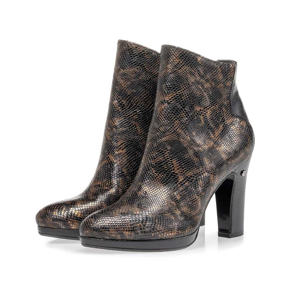 85656/02 - Ankle boot croco print copper