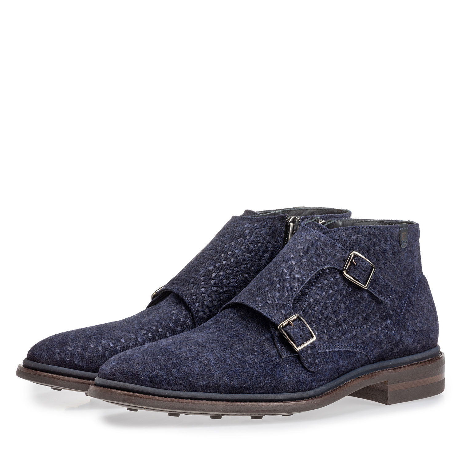 10672/04 - Boot with buckle closure blue