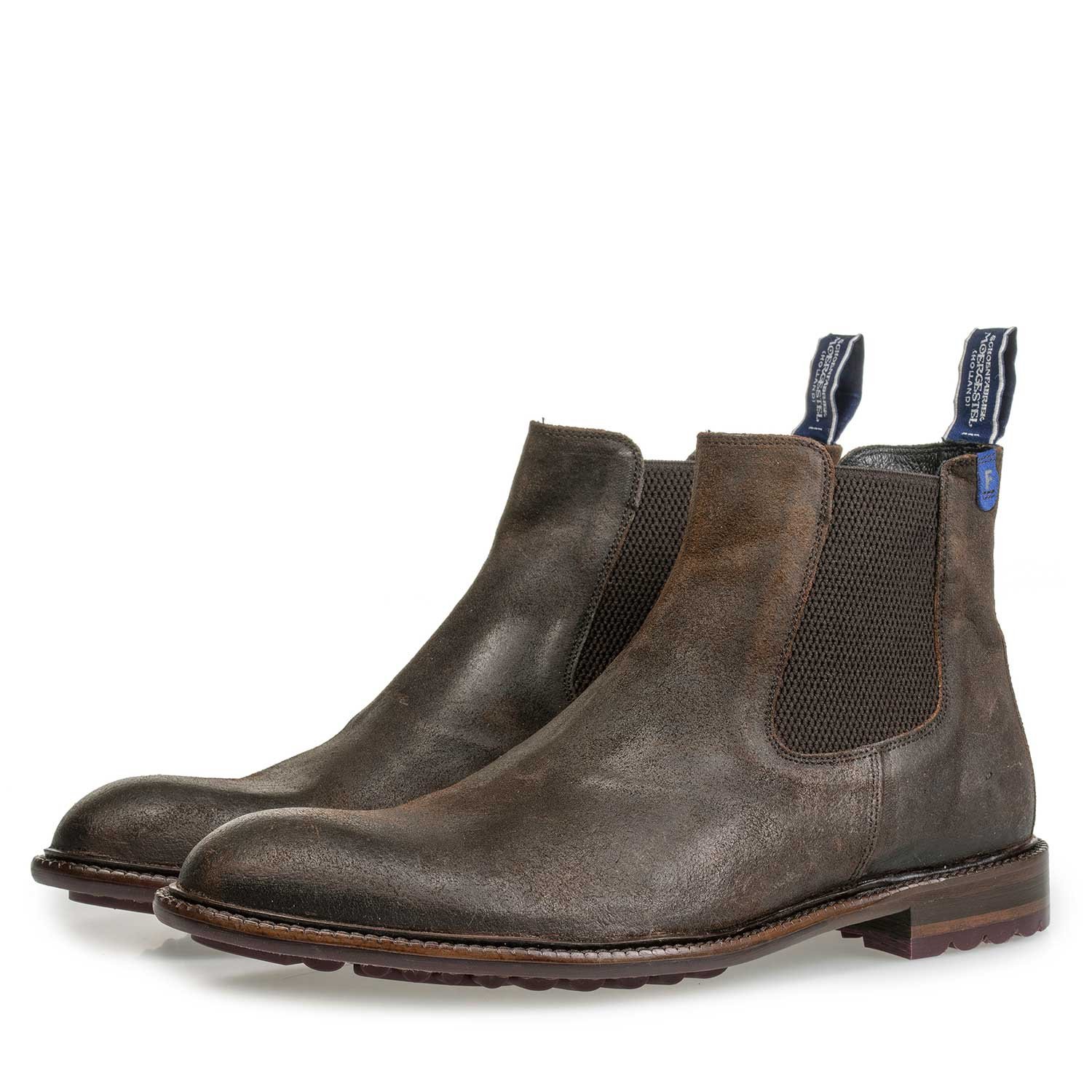 10902/05 - Brown suede leather Chelsea boot