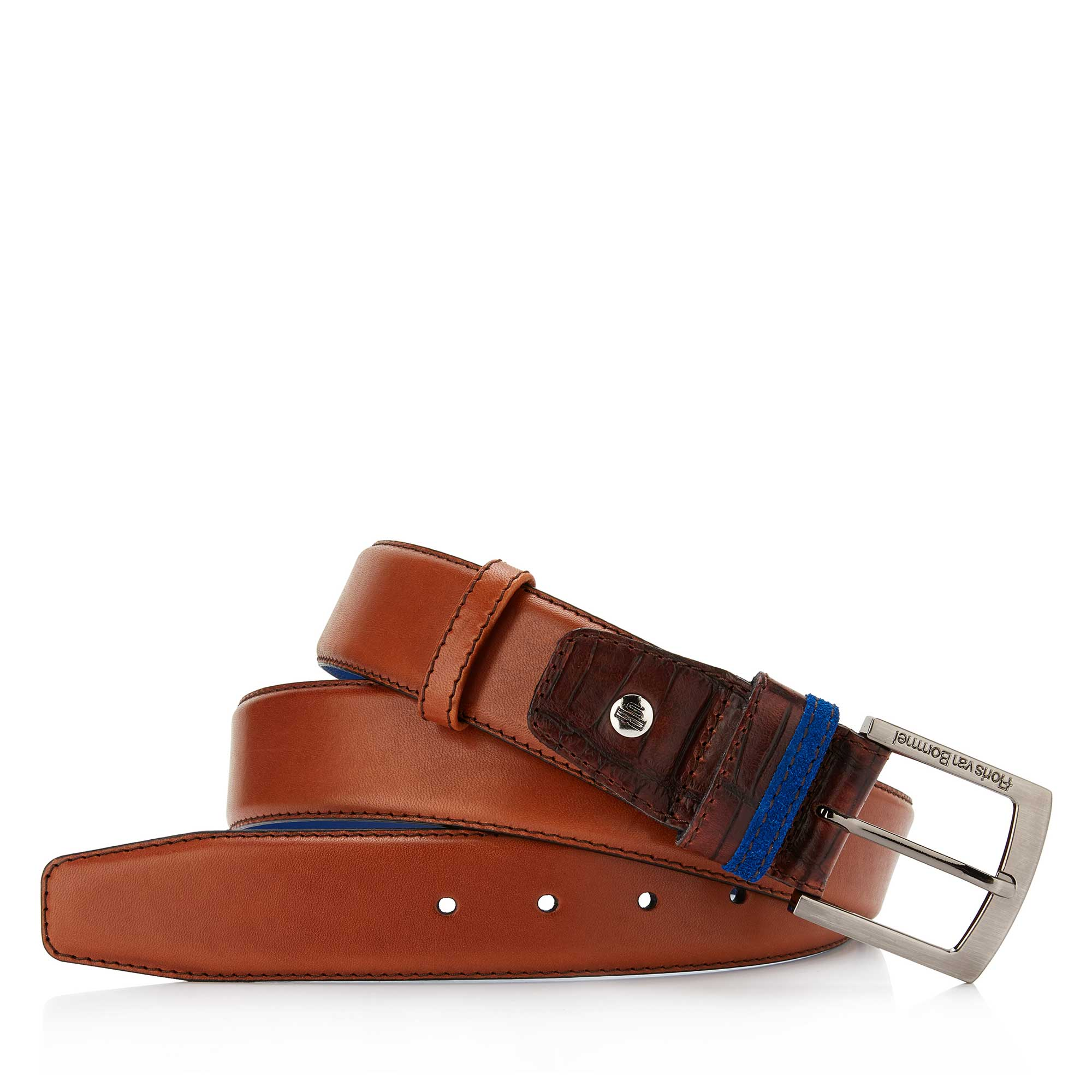 75004/01 - Floris van Bommel cognac leather men's belt