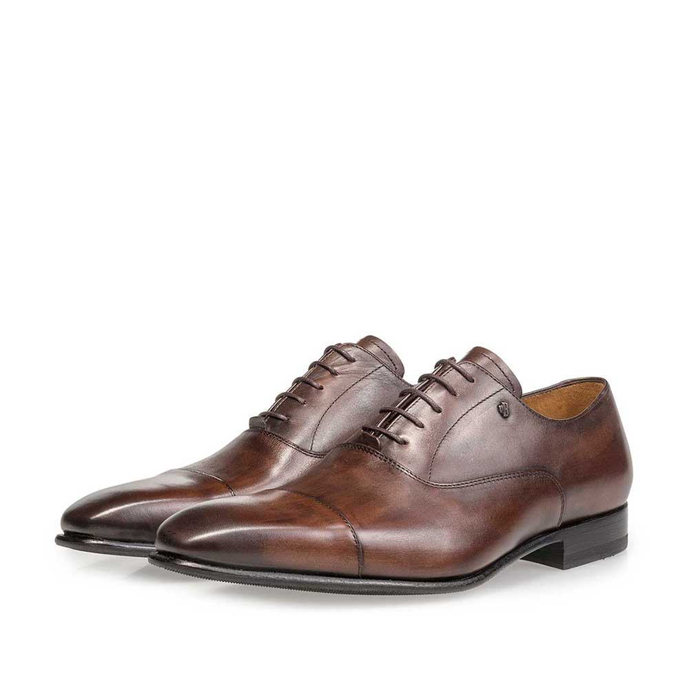 16395/07 - Dark brown calf leather lace shoe