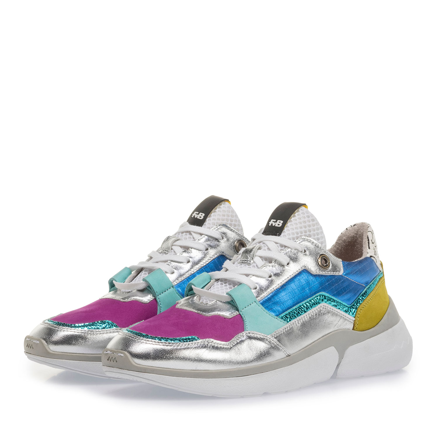 85291/20 - Multi-color leren sneaker