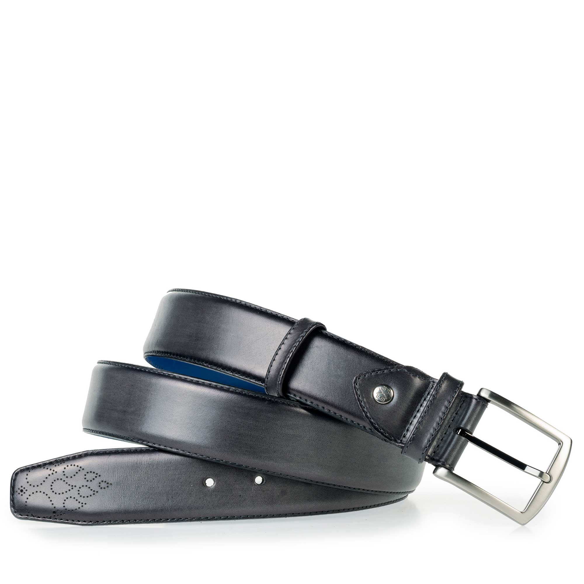 75174/00 - Floris van Bommel grey leather men's belt