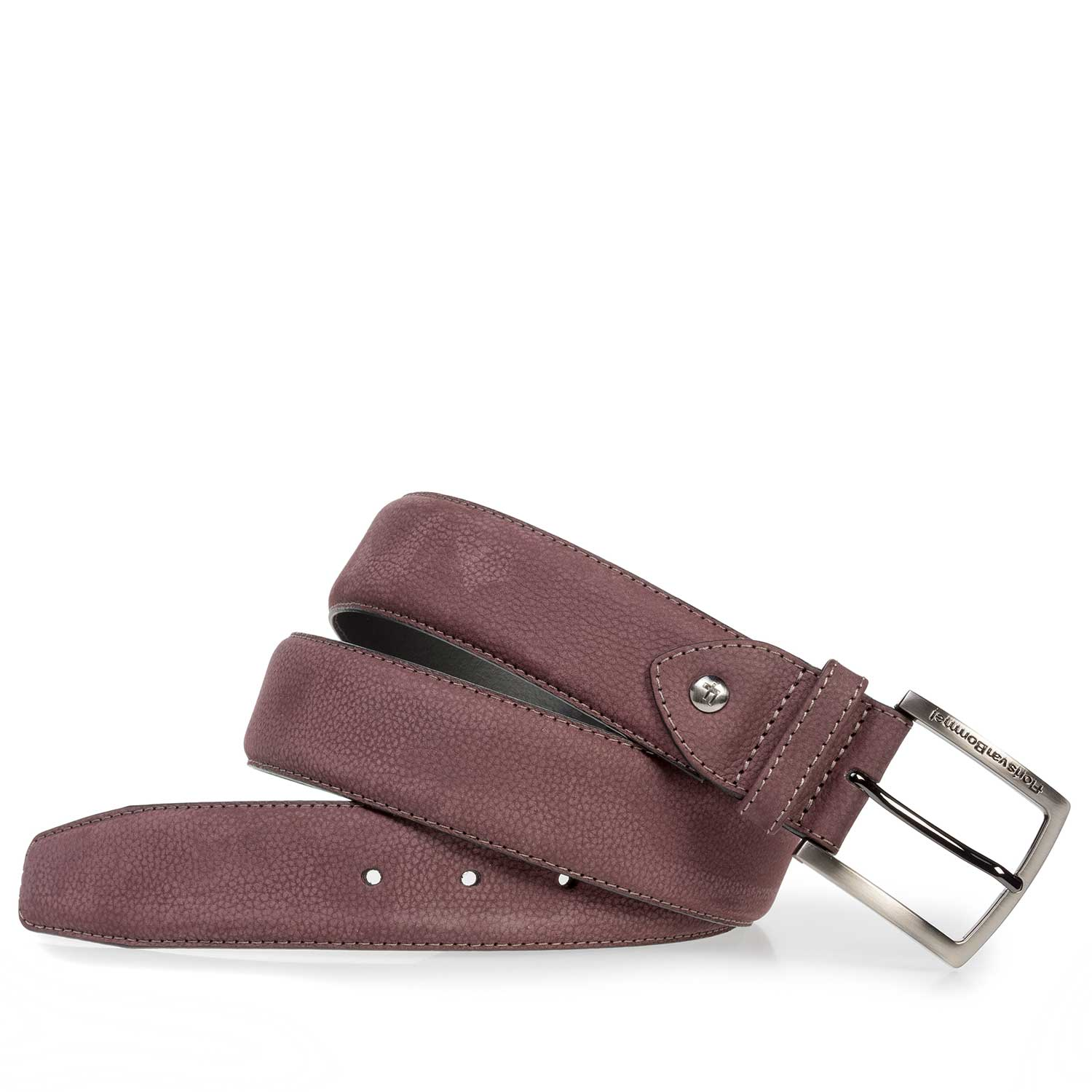 75202/30 - Red printed nubuck leather belt