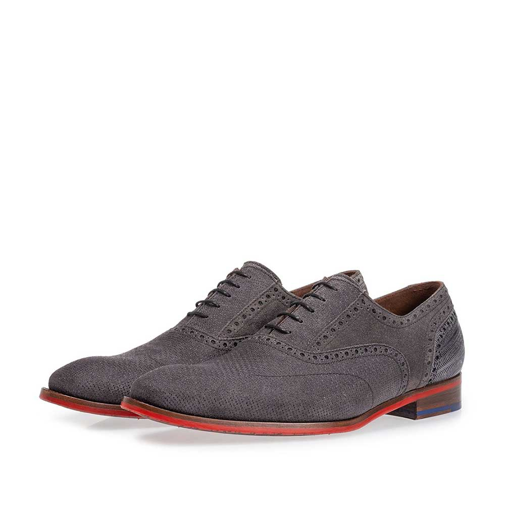 19109/08 - Lace shoe dark grey with print