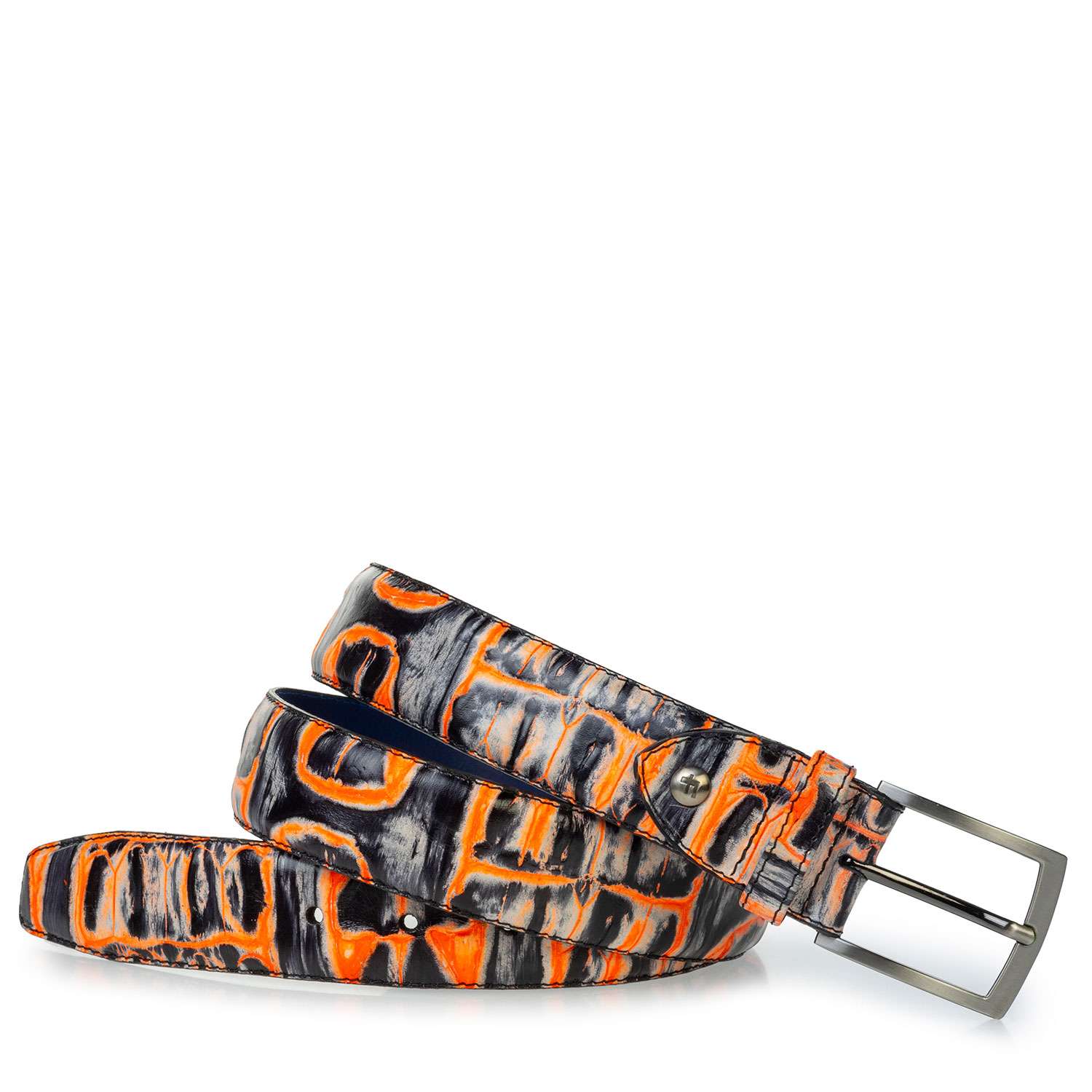 75203/27 - Belt orange croco print