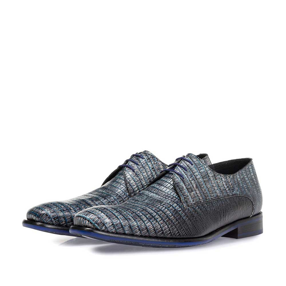 18459/00 - Lace shoe with print grey