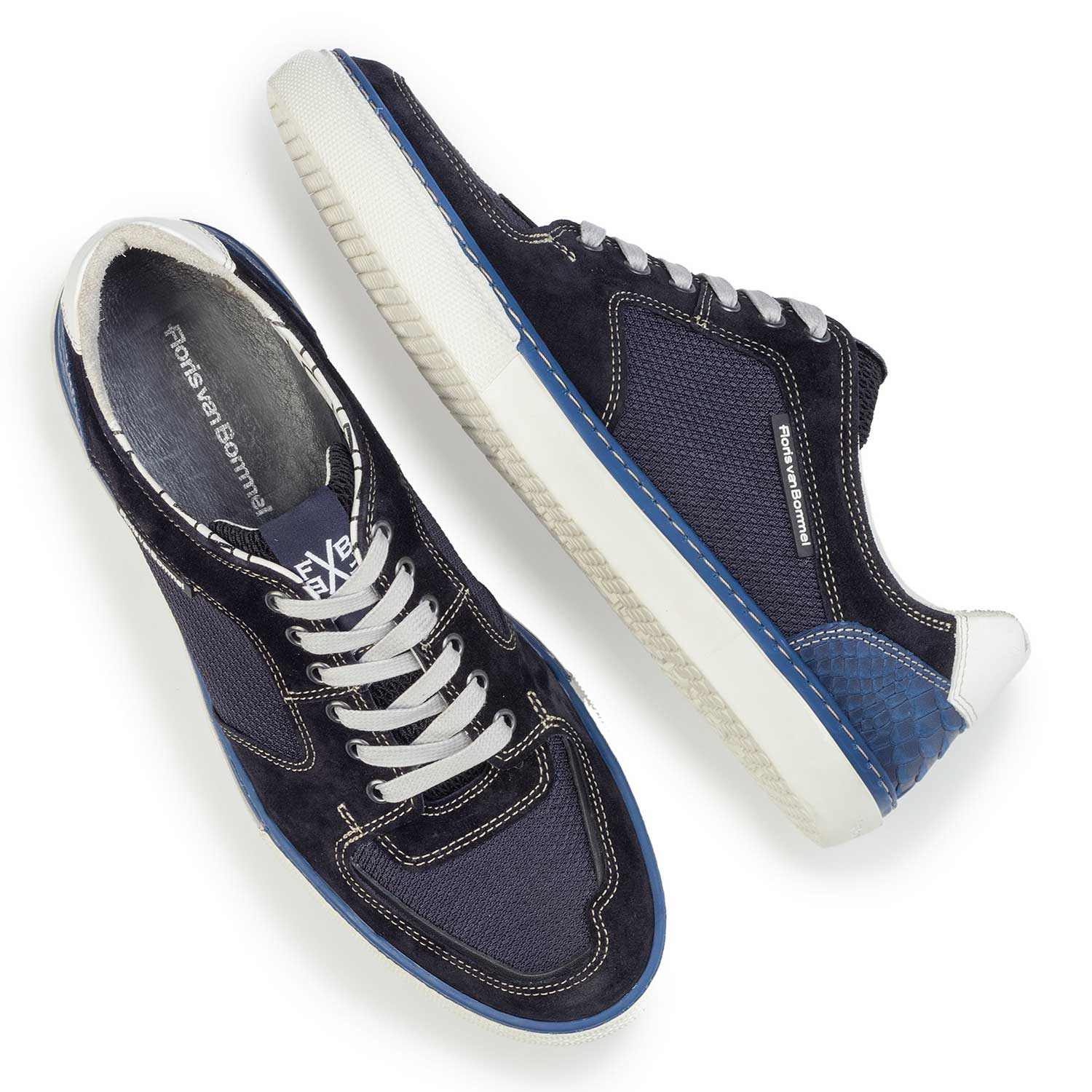 16252/00 - Dark blue suede leather sneaker