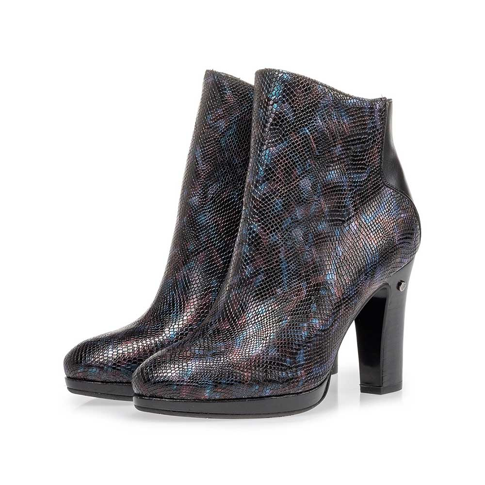 85656/00 - Ankle boot croco print blue