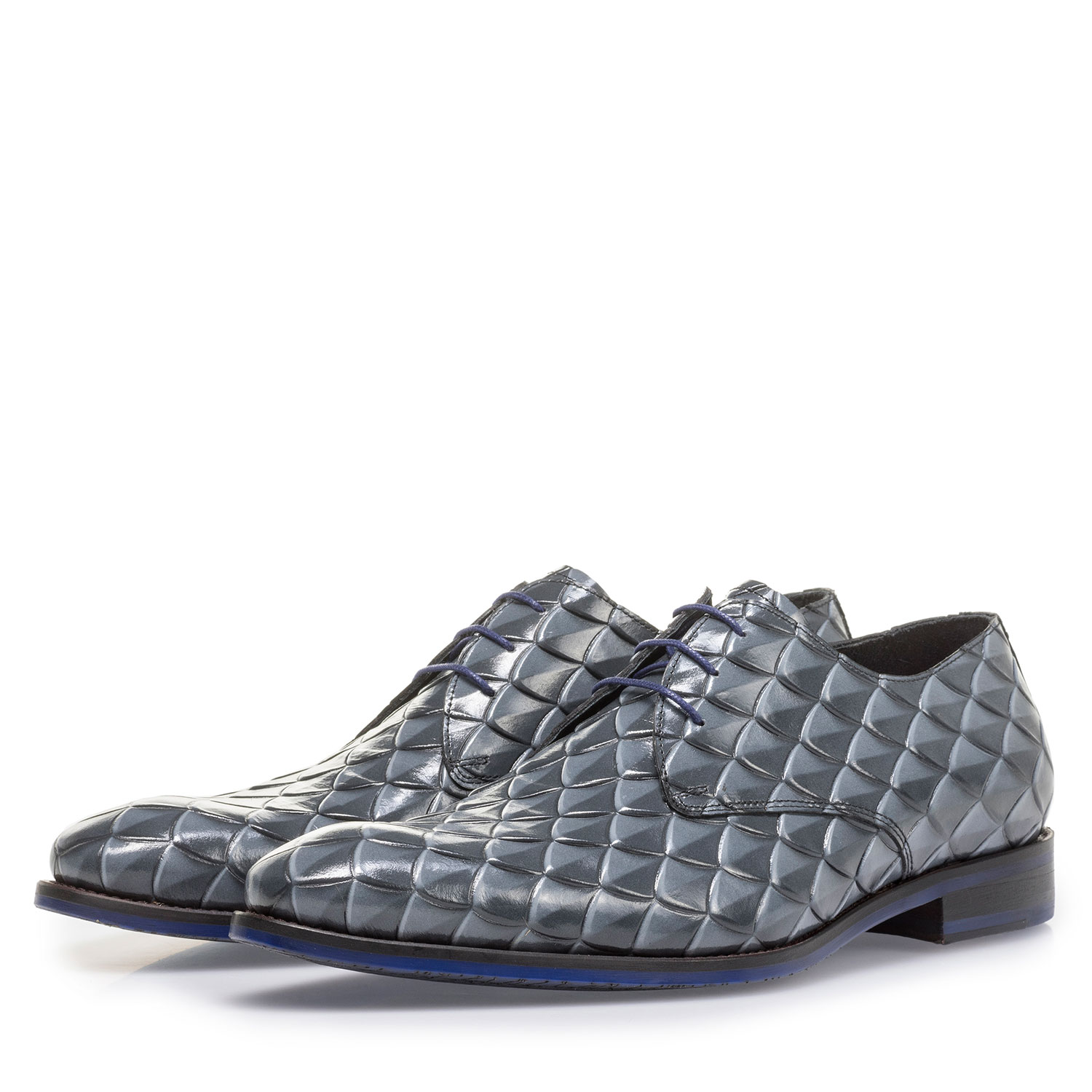 18167/04 - Premium grey lace shoe with print