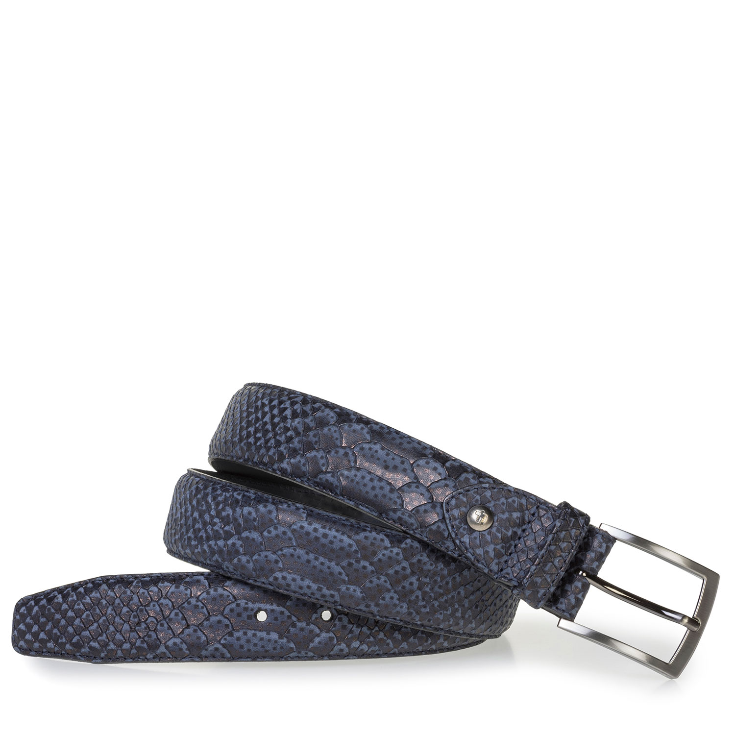 75200/68 - Dark blue belt with snake print