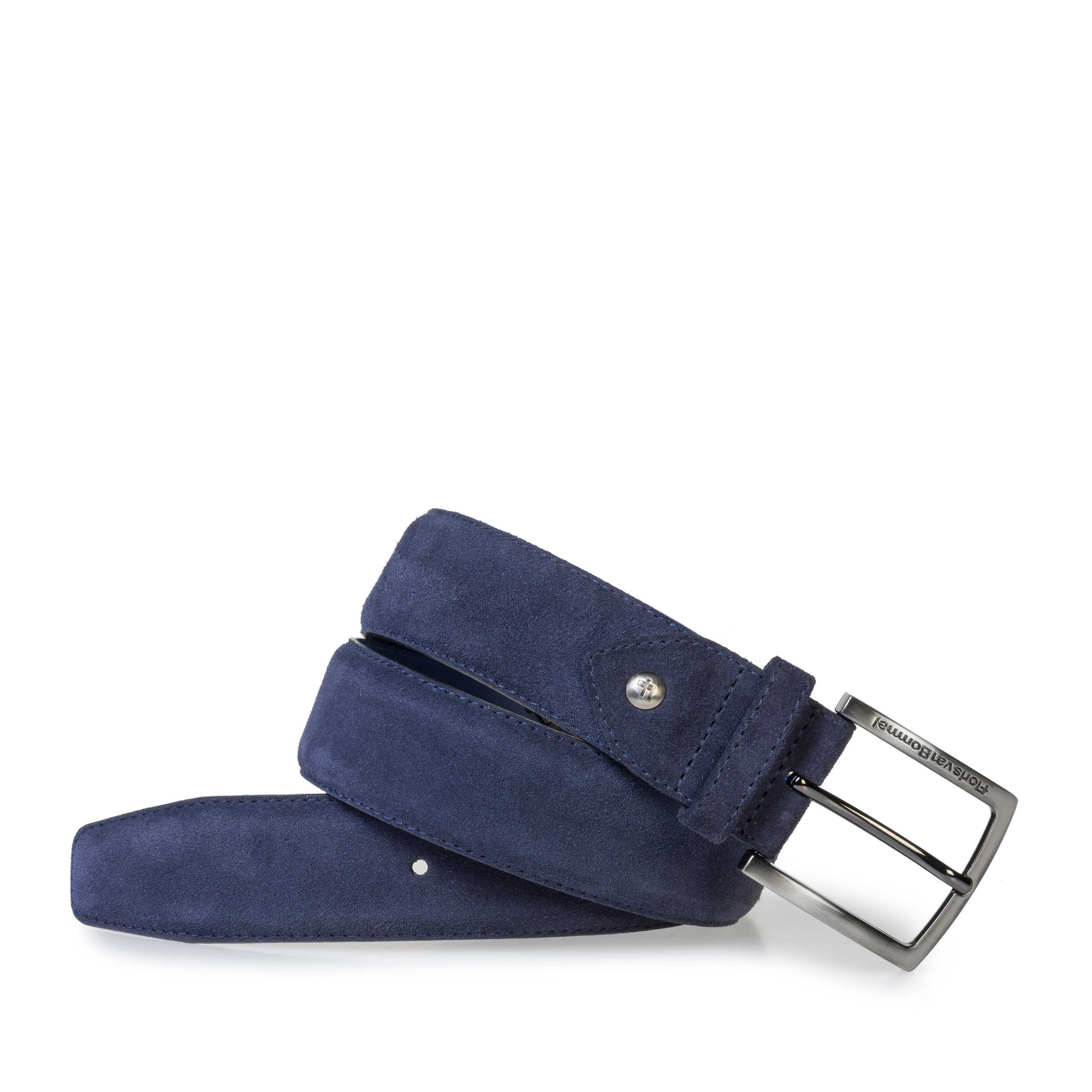 75202/45 - Dark blue suede leather belt