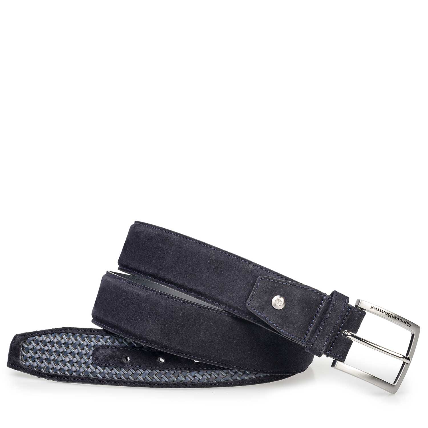 75159/23 - Blue braided leather belt