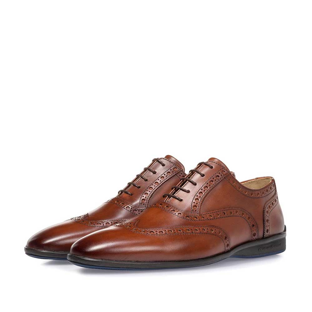 16360/16 - Lace shoe calf leather cognac