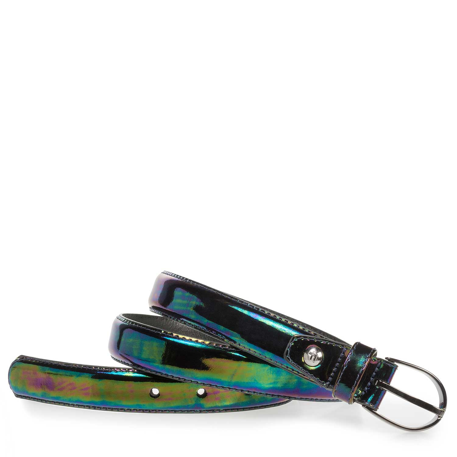 75813/51 - Multi-color metallic leren riem