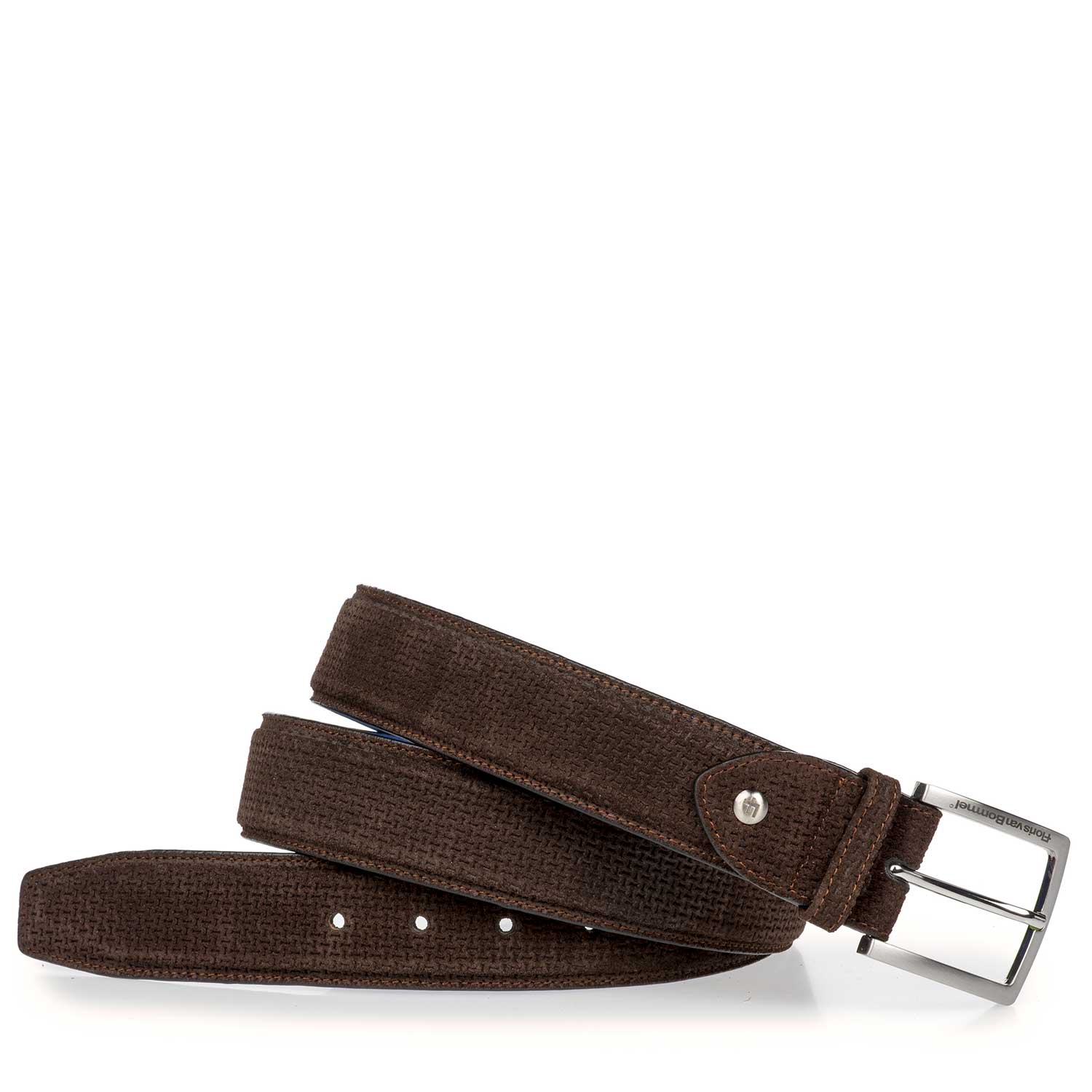 75189/19 - Dark brown belt with structural pattern
