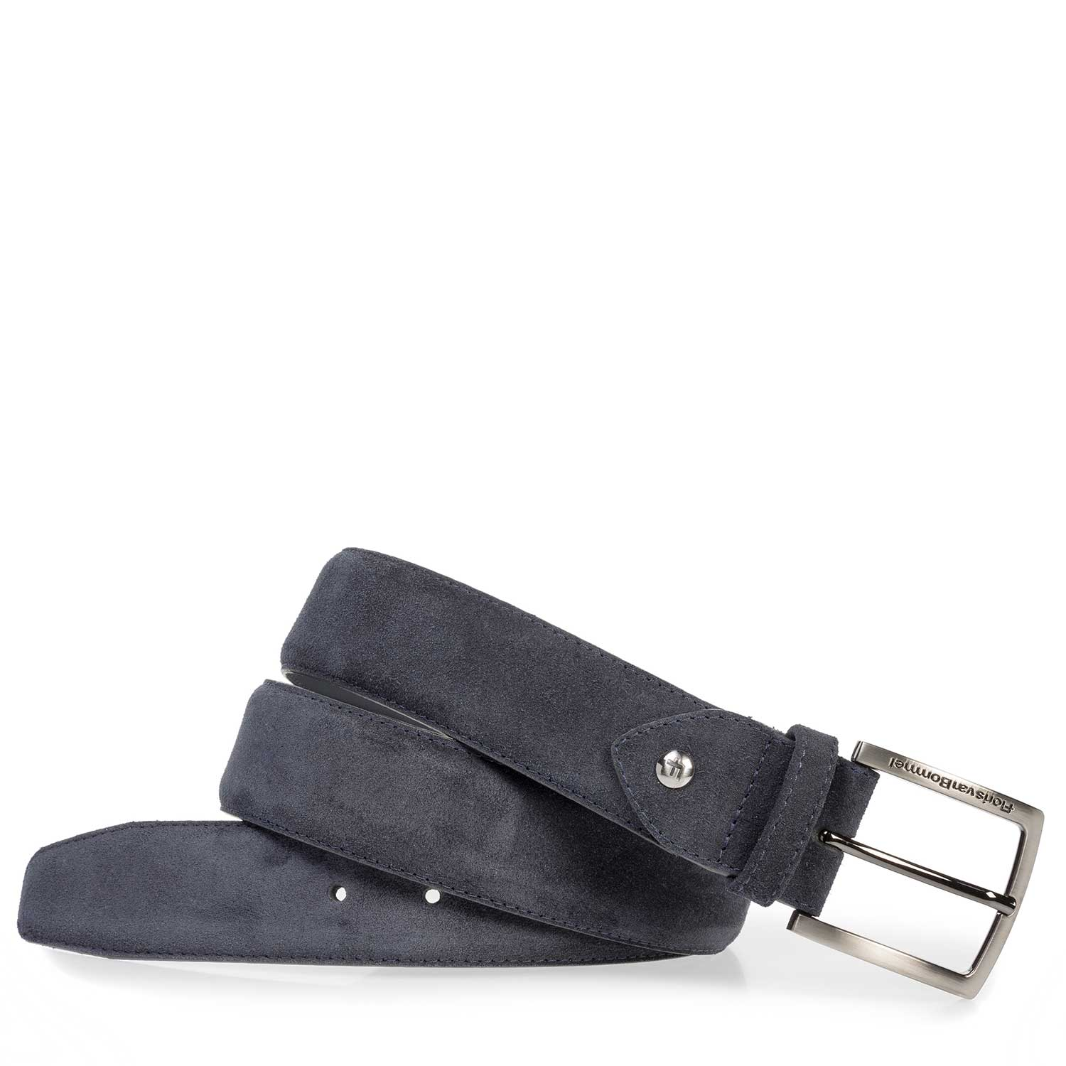 75202/07 - Dark blue suede leather belt
