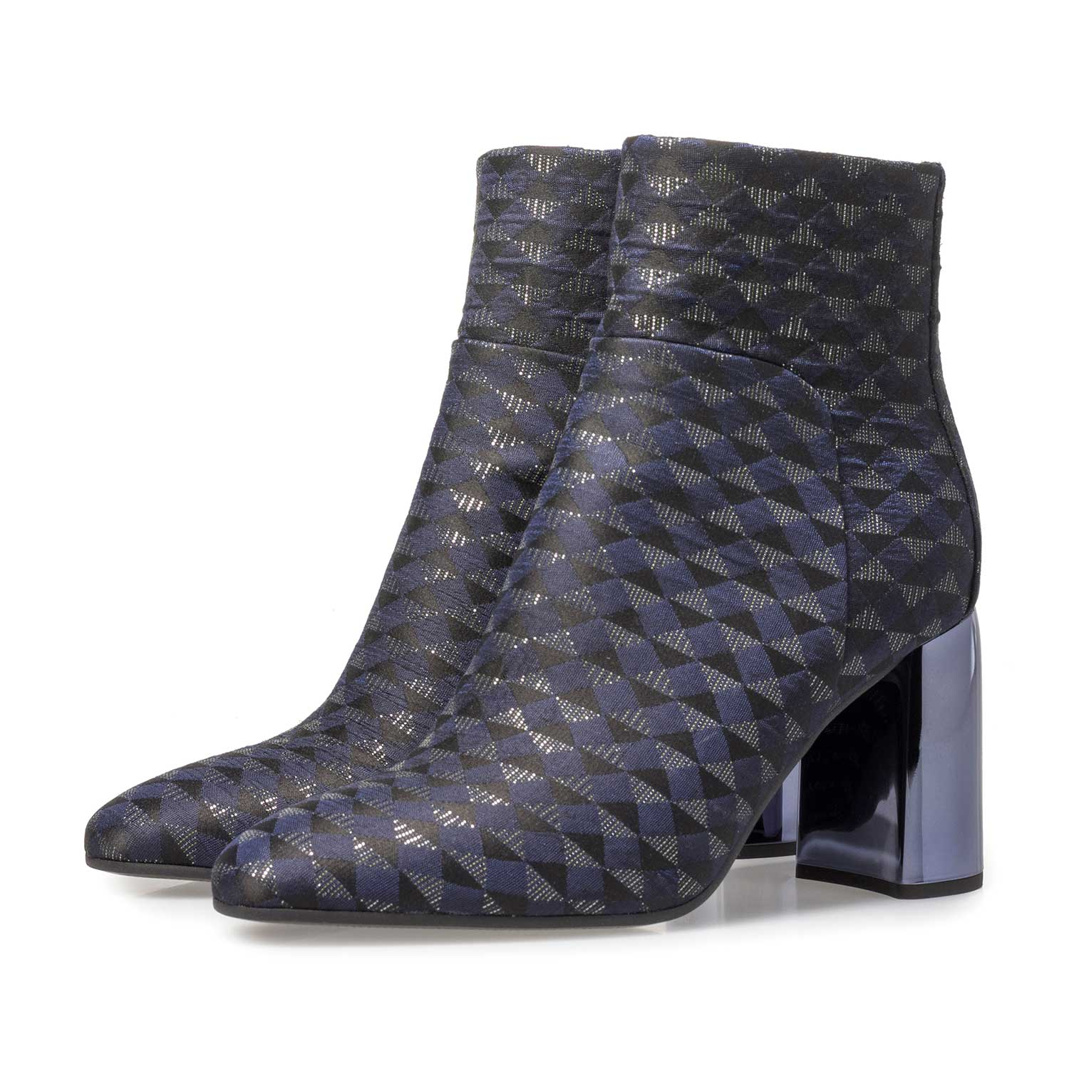 85624/05 - Blue ankle boots with graphic print