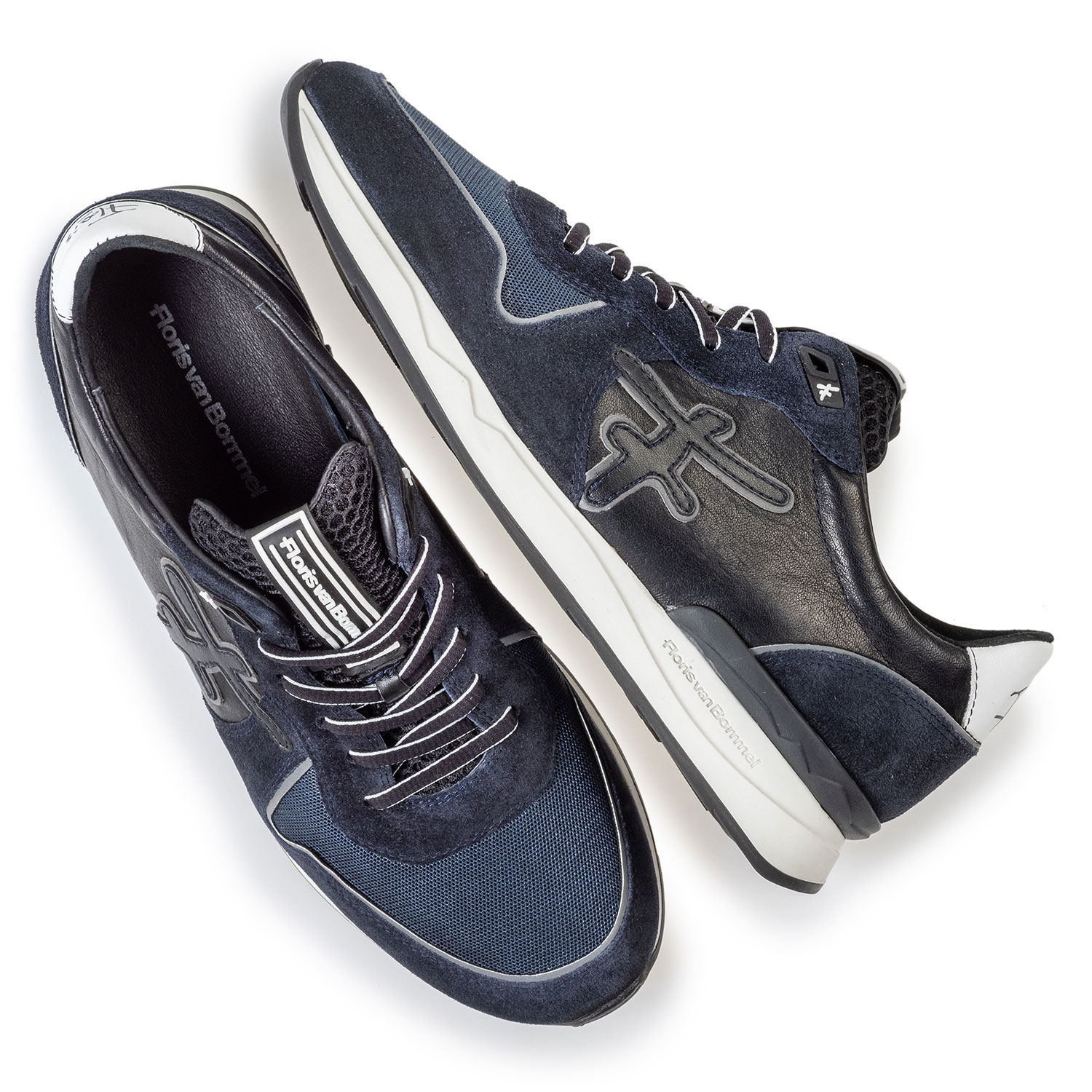 16284/01 - Sneaker dark blue suede leather