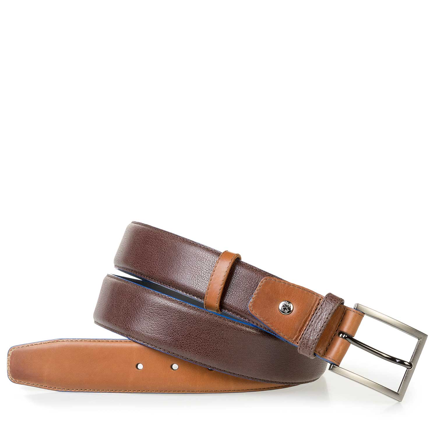 75052/05 - Cognac-coloured calf leather belt