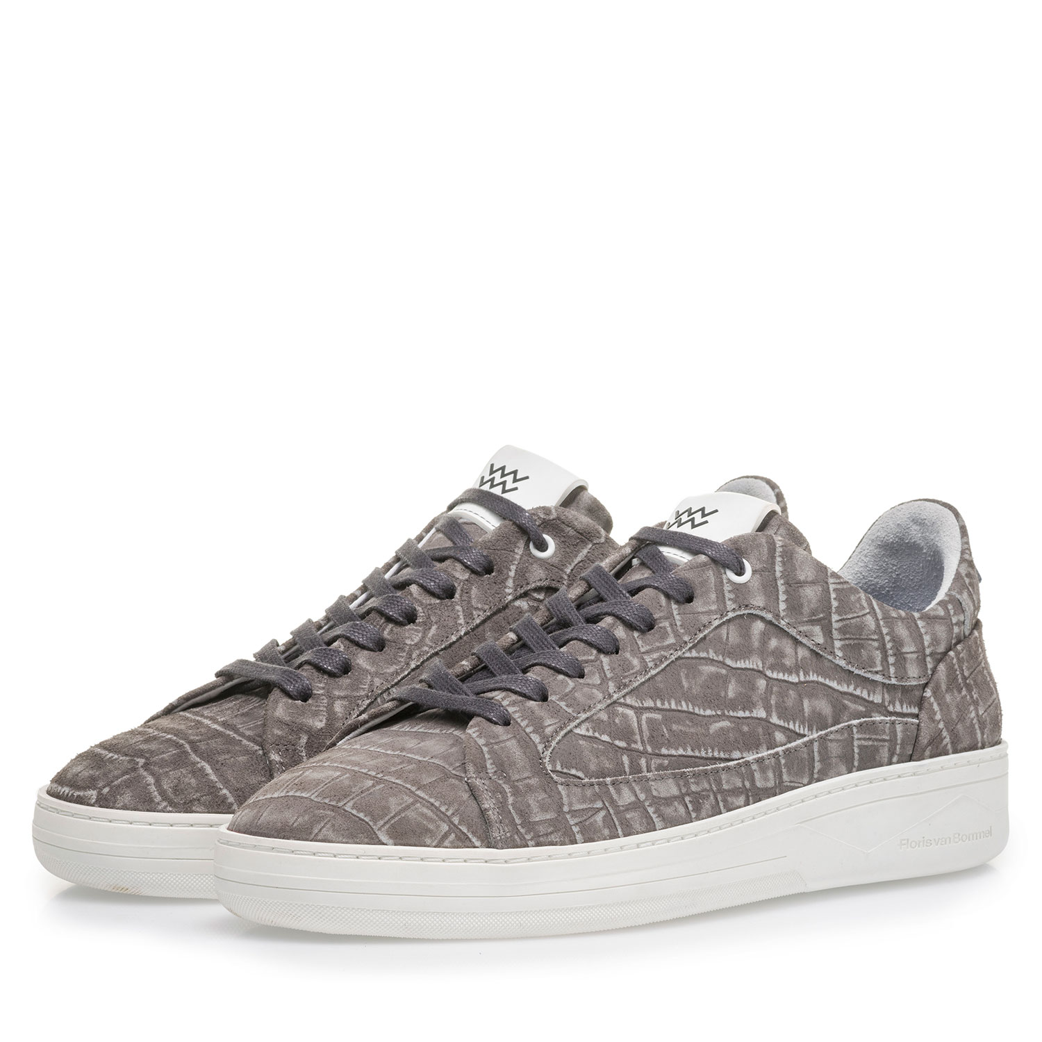 13265/06 - Dark grey sneaker with croco print