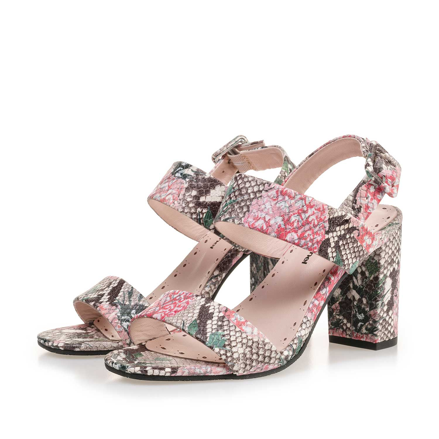 85228/00 - Multi-coloured leather sandal with printed motif