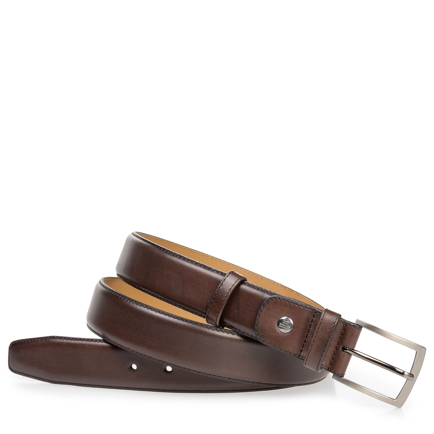75529/00 - Calf leather belt dark brown