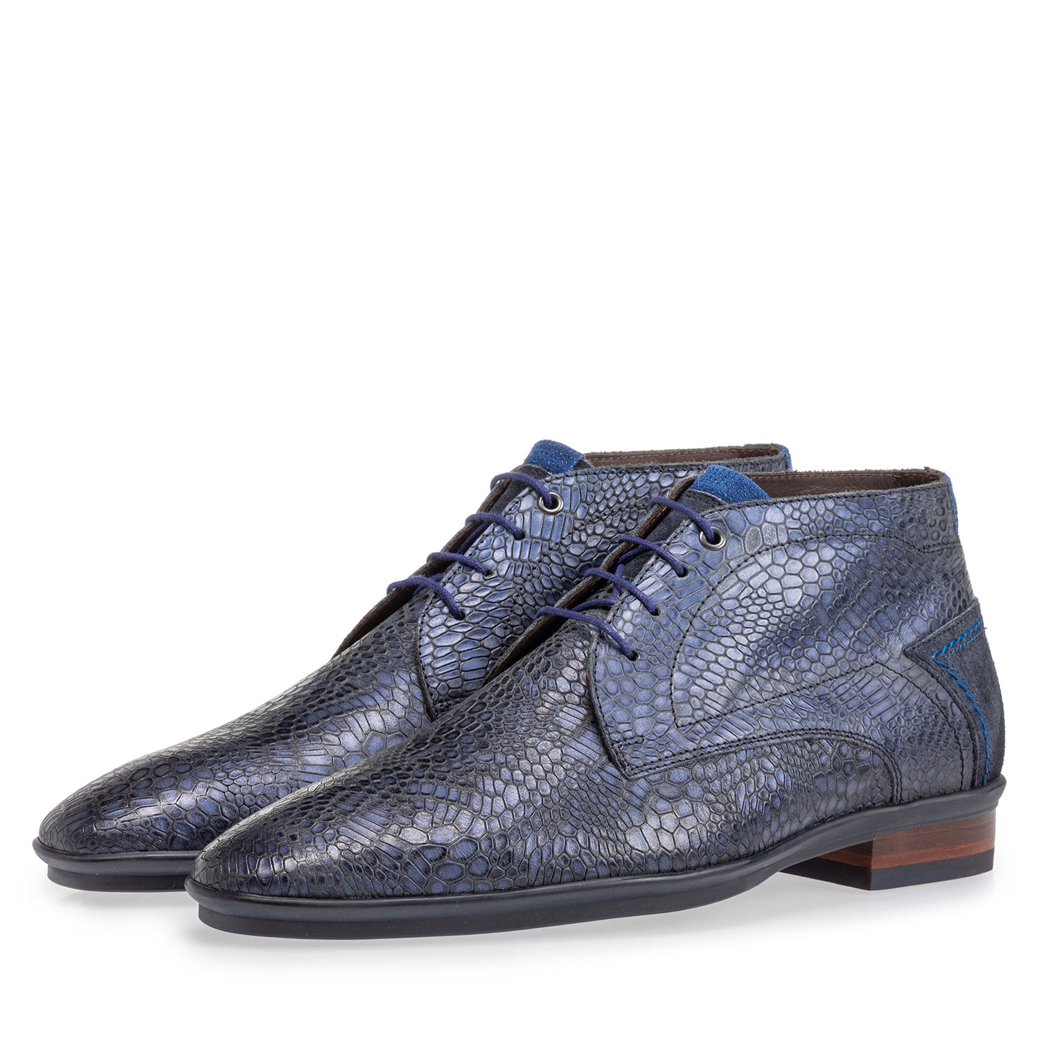 20440/33 - Lace boot with print blue