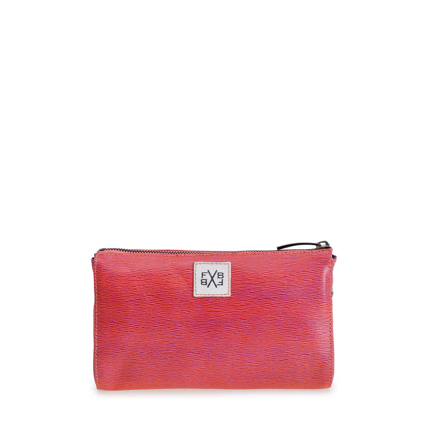 89000/04 - Coral red leather cross body bag